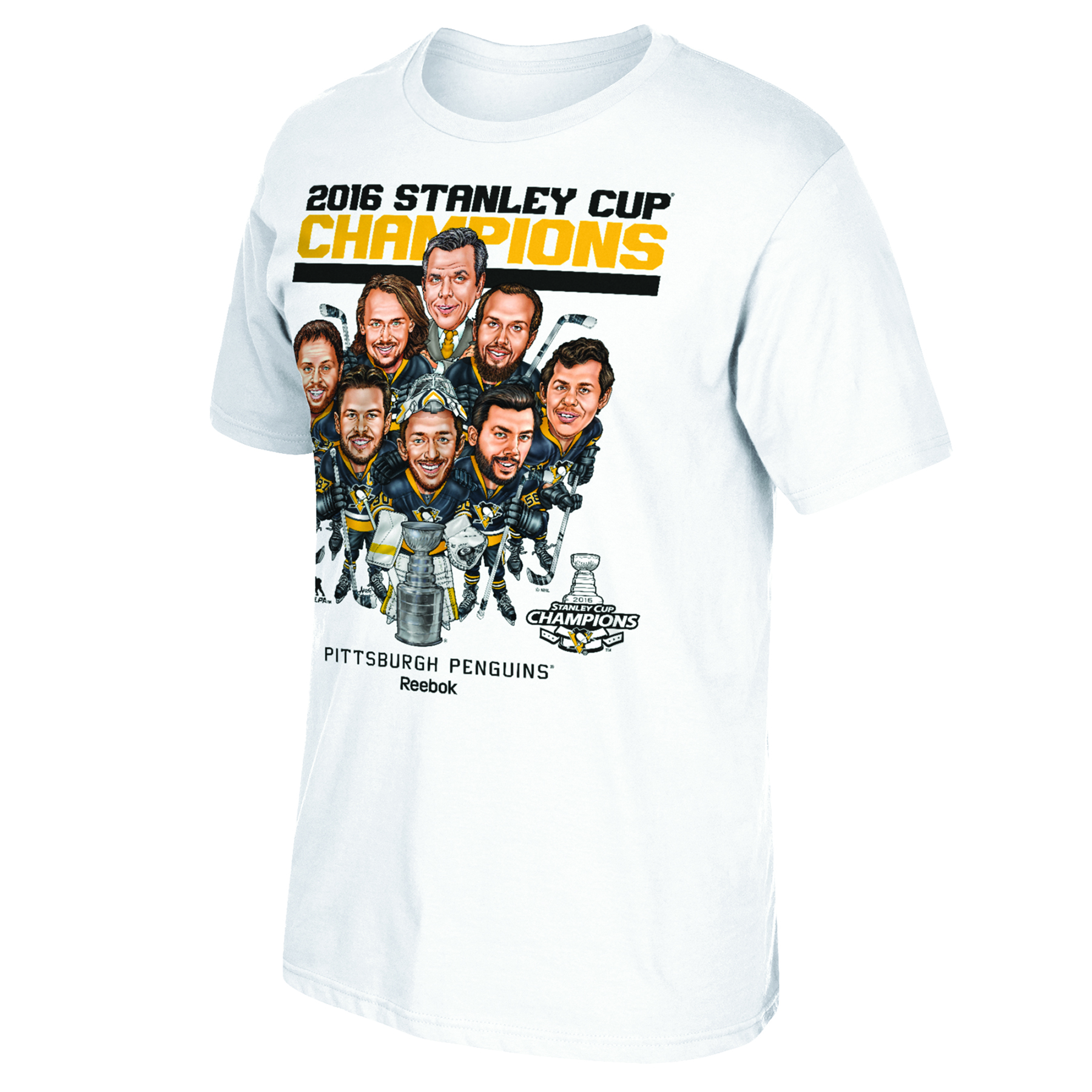 Pittsburgh Penguins 2016 NHL Caricature Champs T-Shirt