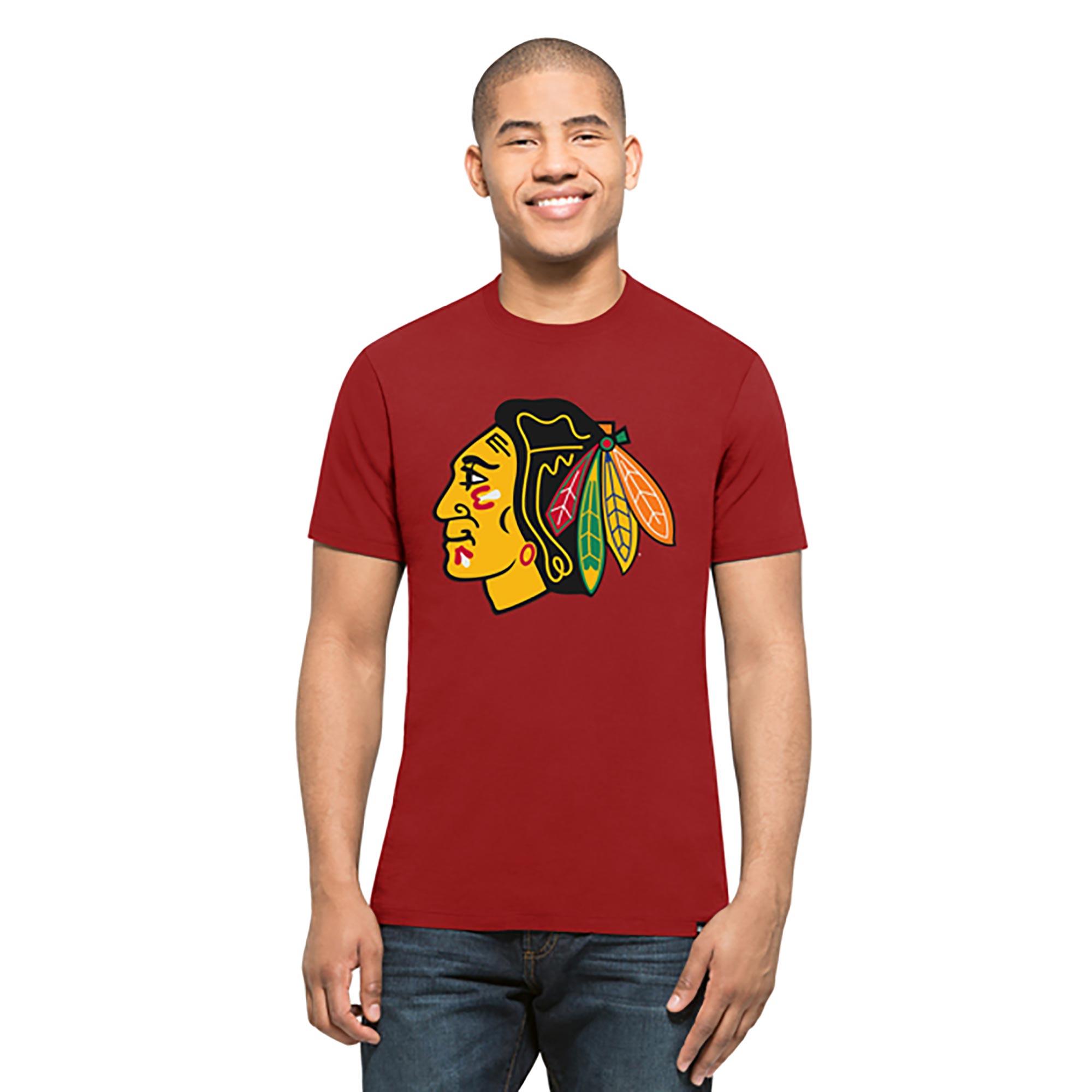 Chicago Blackhawks Splitter T-Shirt - Mens