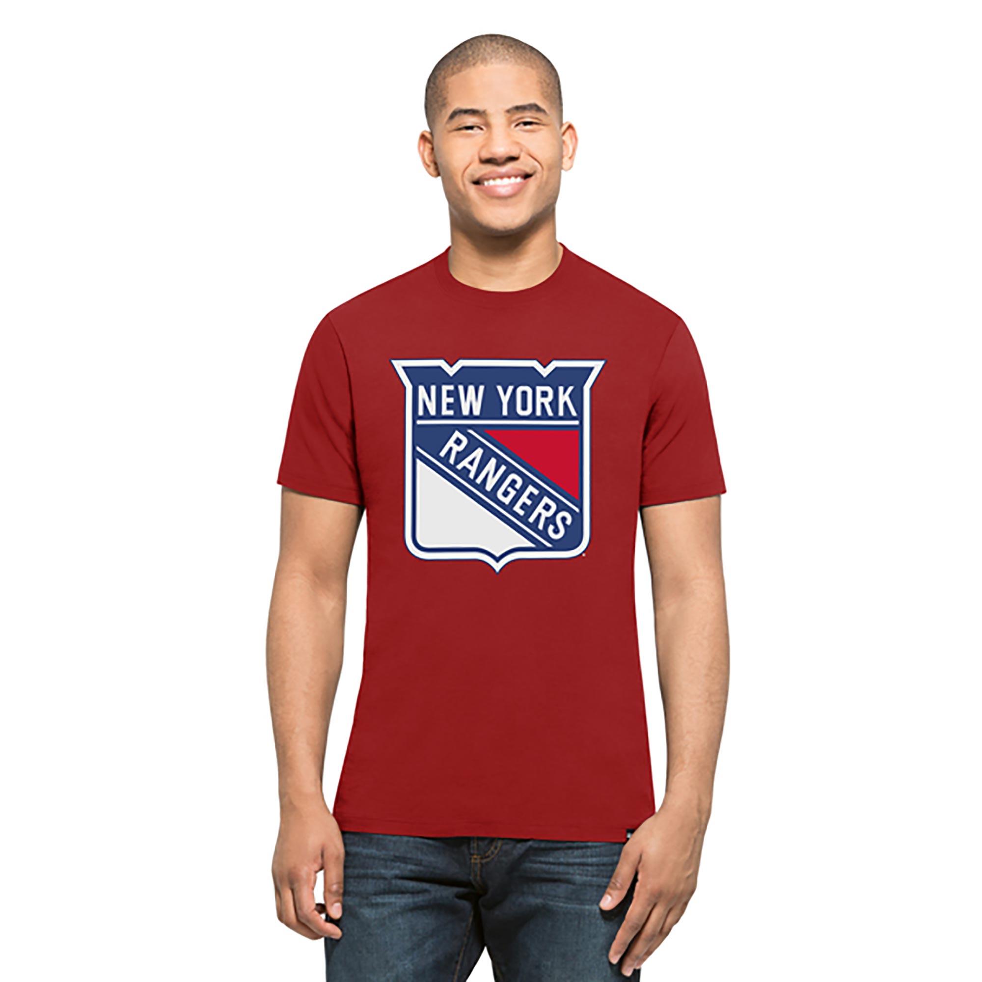 New York Rangers Splitter T-Shirt - Mens