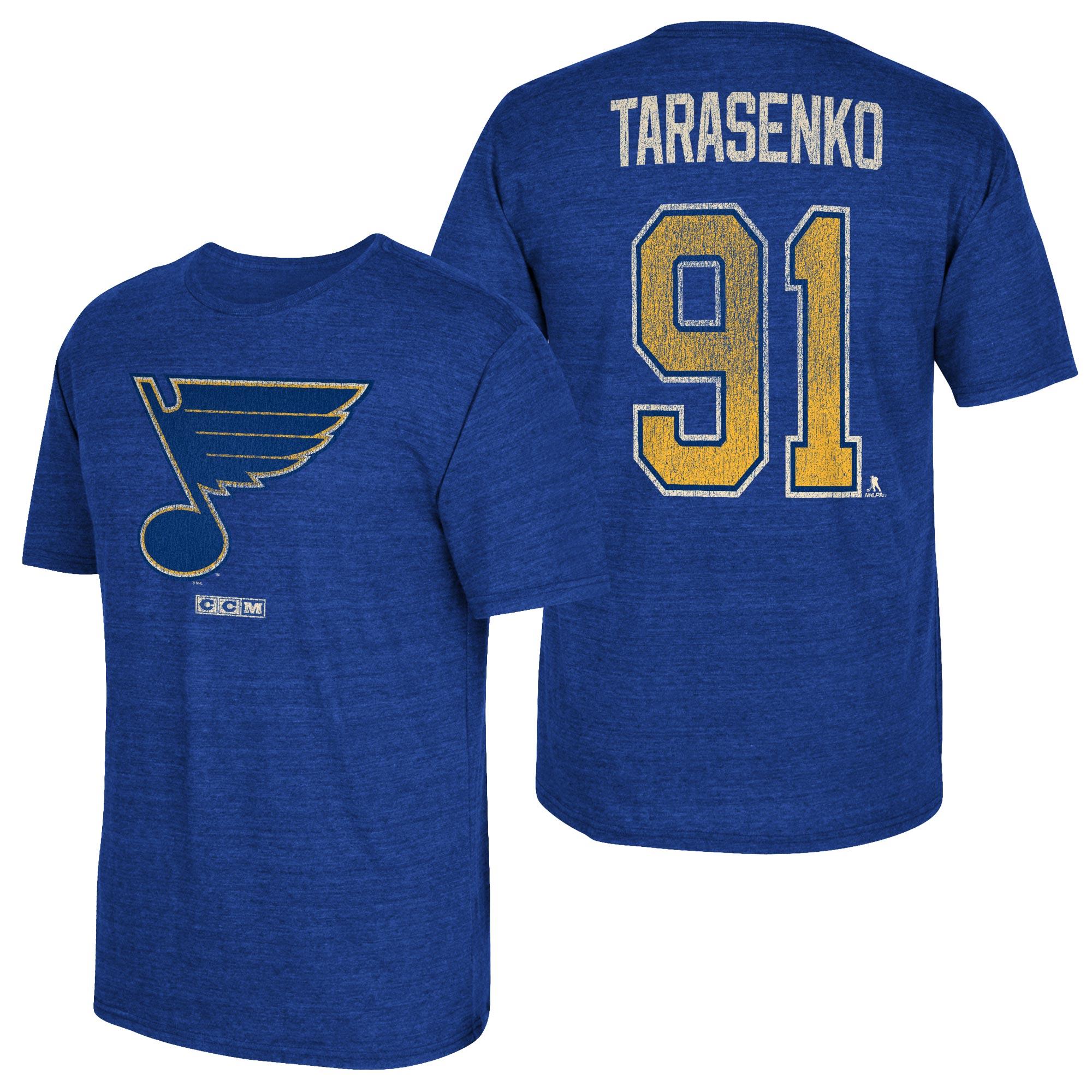 St. Louis Blues CCM Vladmir Tarasenko Tri-Blend Name & Number T-Shirt