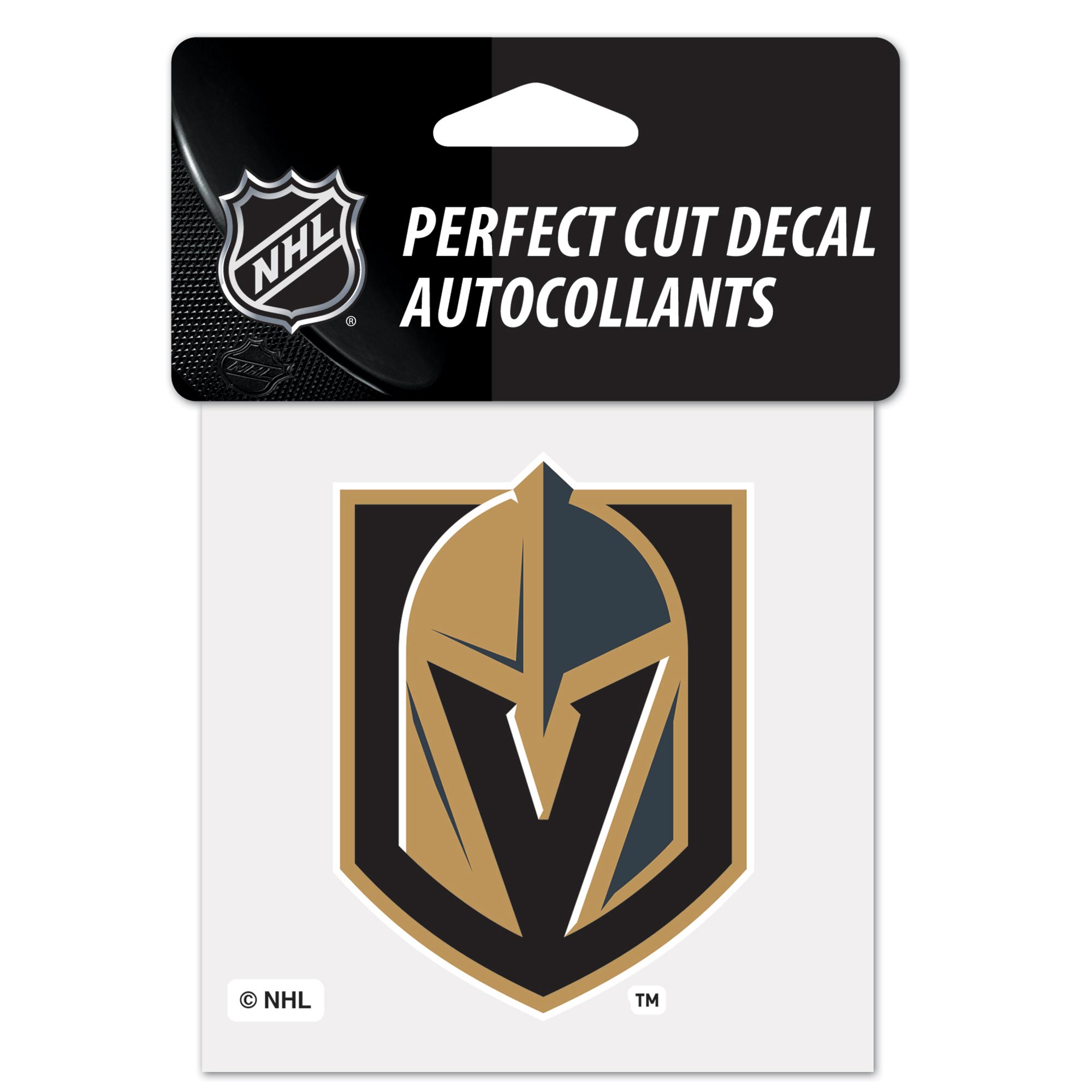 Vegas Golden Knights Team Logo Perfect Cut Decal 4 x 4