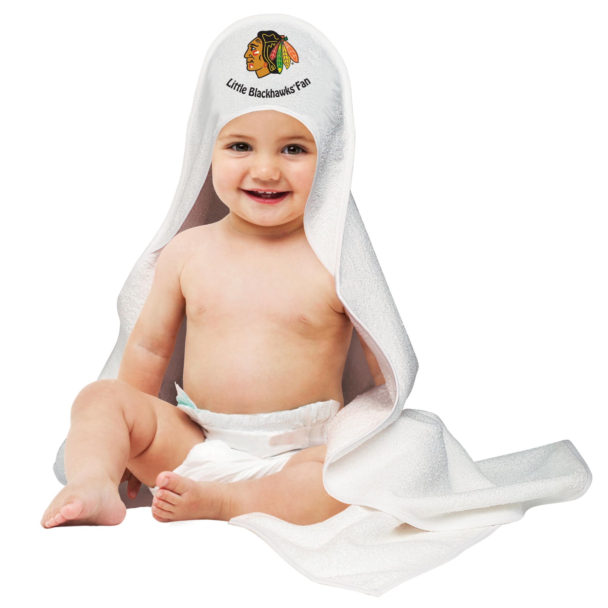 Chicago Blackhawks Hooded Baby Towel