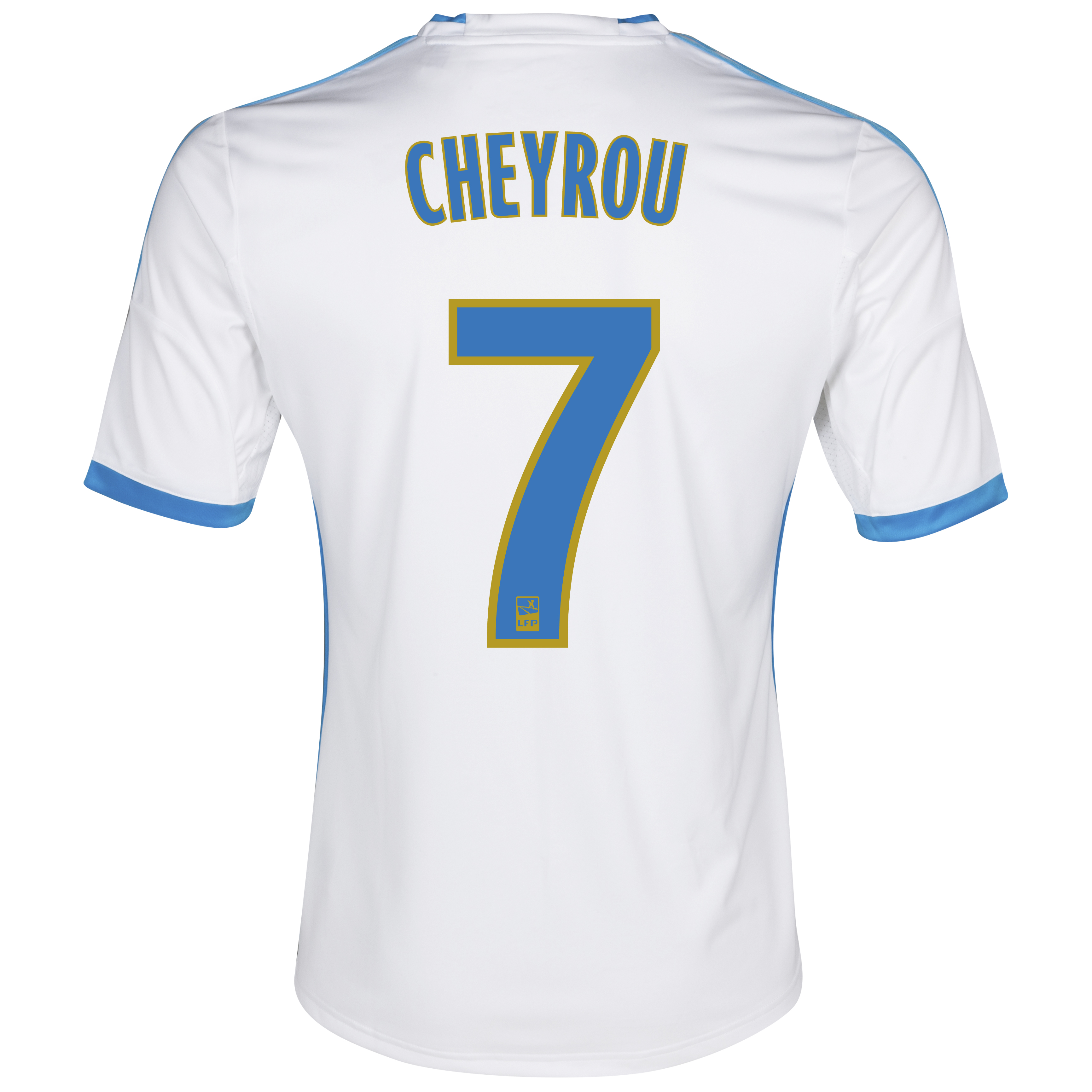 Olympique De Marseille Home Shirt SS 2013/14 - Mens White with Cheyrou 7 printing