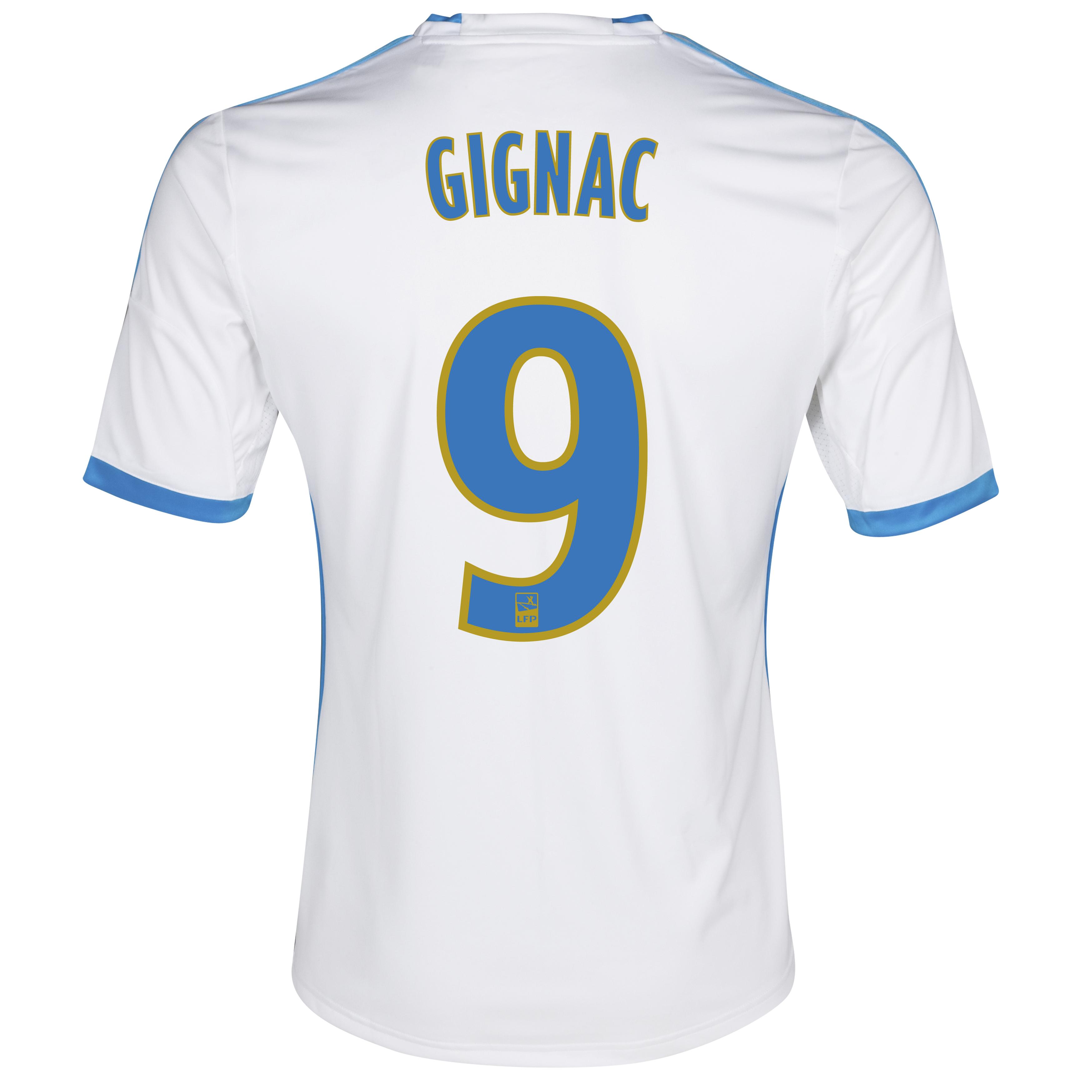 Olympique De Marseille Home Shirt SS 2013/14 - Womens White with Gignac 9 printing