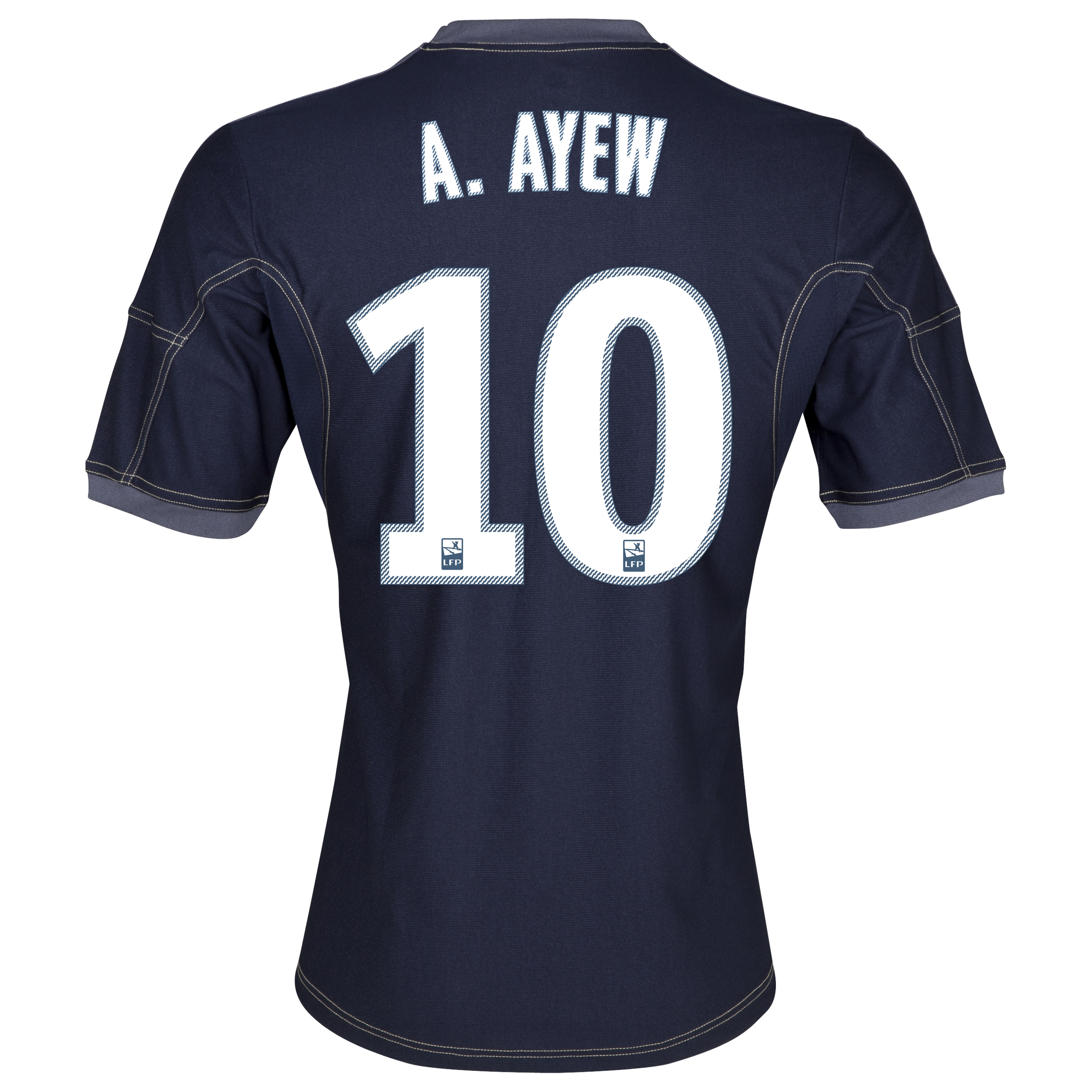 Olympique De Marseille Away Shirt SS 2013/14 - Mens Lt Blue with A.Ayew 10 printing