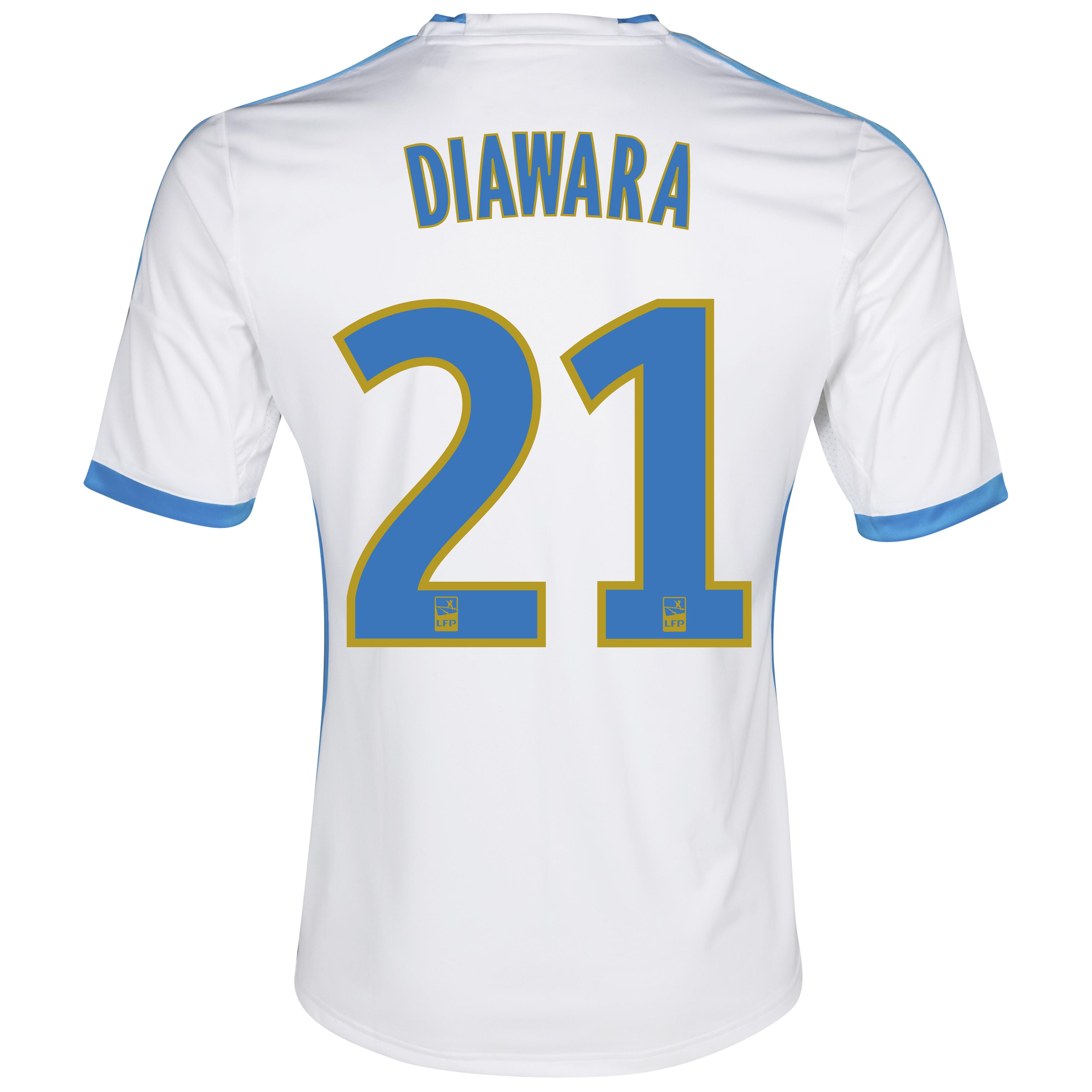 Olympique de Marseille Home Shirt SS 2013/14 - Womens White with Diawara 21 printing