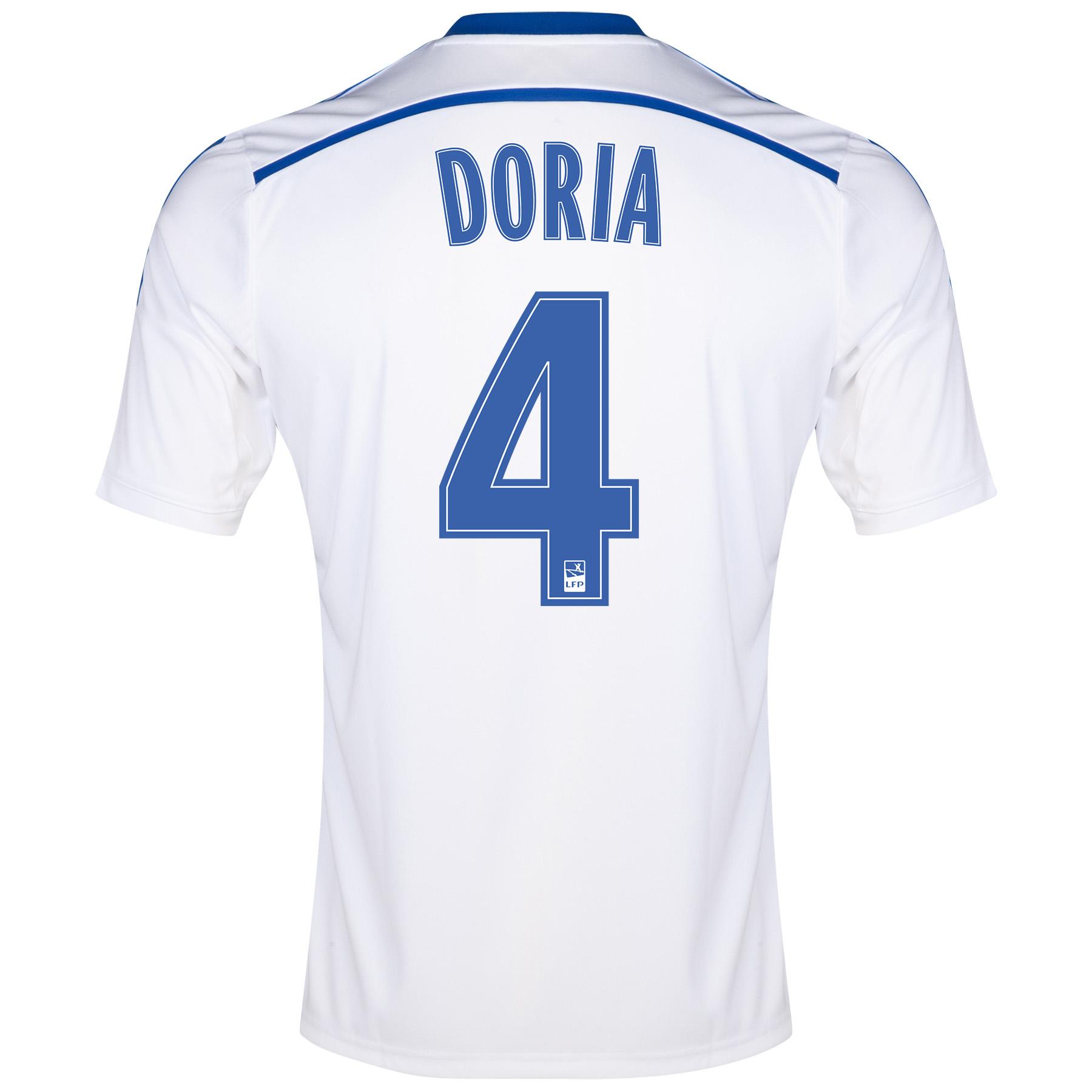 Olympique de Marseille Home Shirt Short Sleeve 2014/15 White with Doria 4 printing