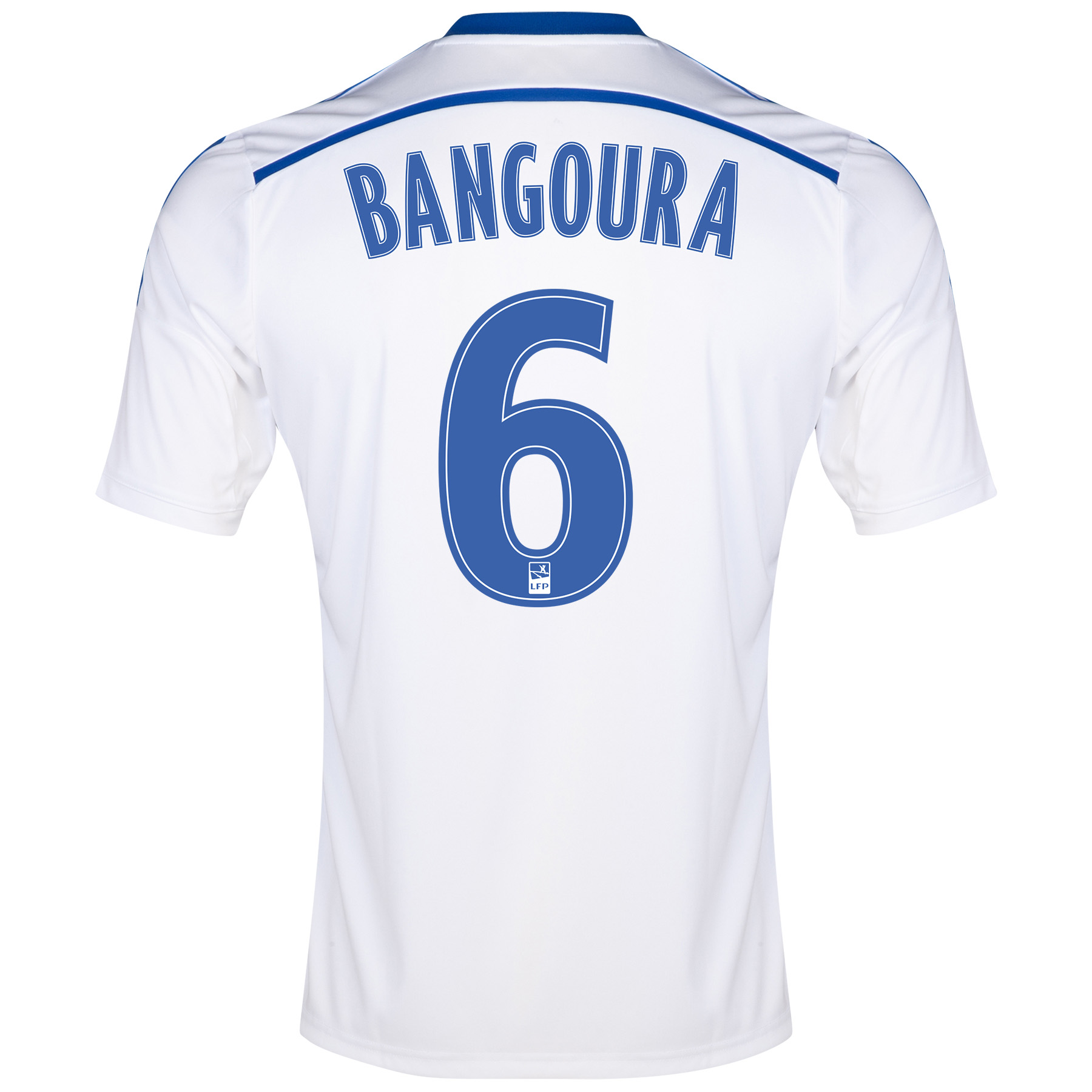 Olympique de Marseille Home Shirt Short Sleeve 2014/15 White with Bangoura 6 printing