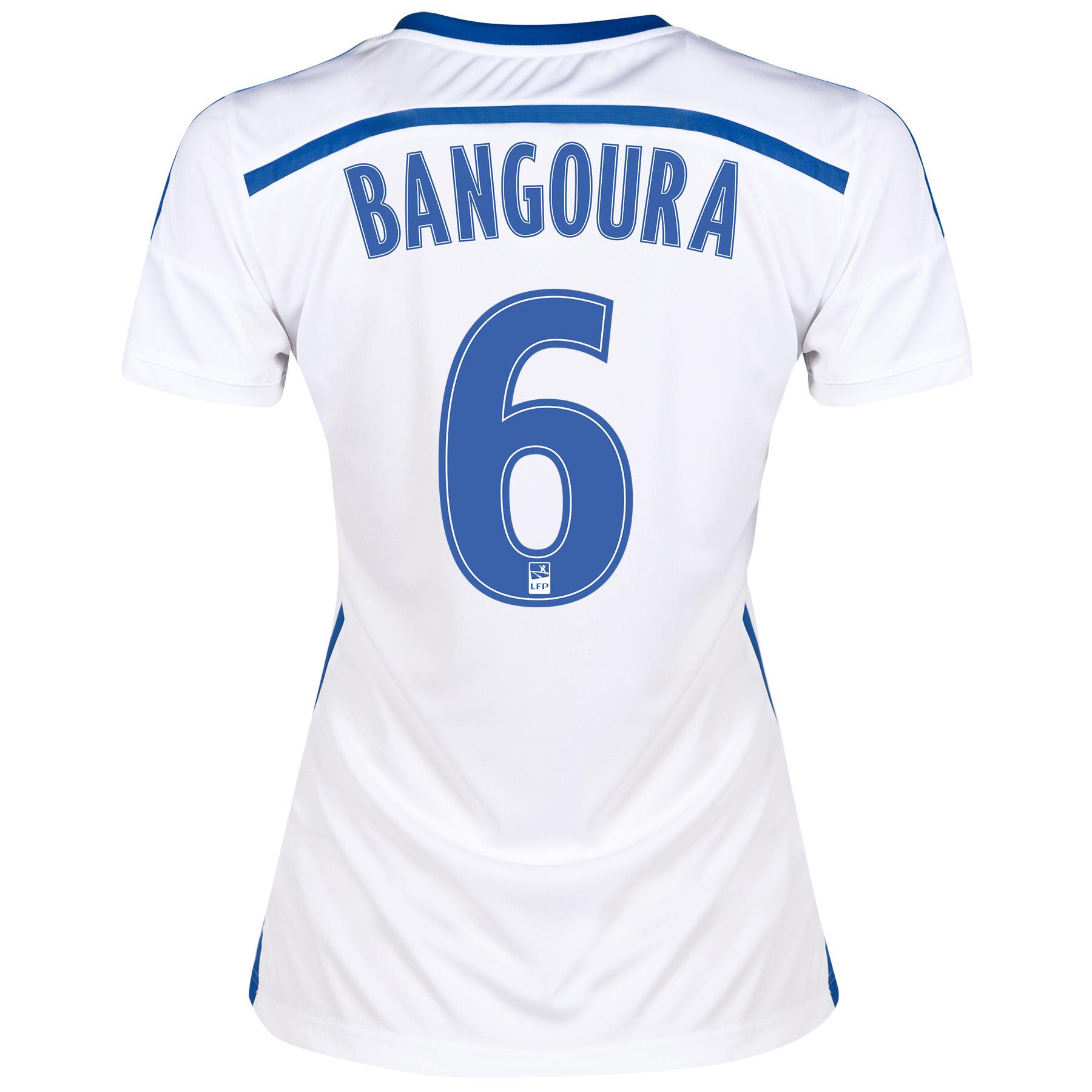 Olympique de Marseille Home Shirt Short Sleeve - Womens 2014/15 White with Bangoura 6 printing