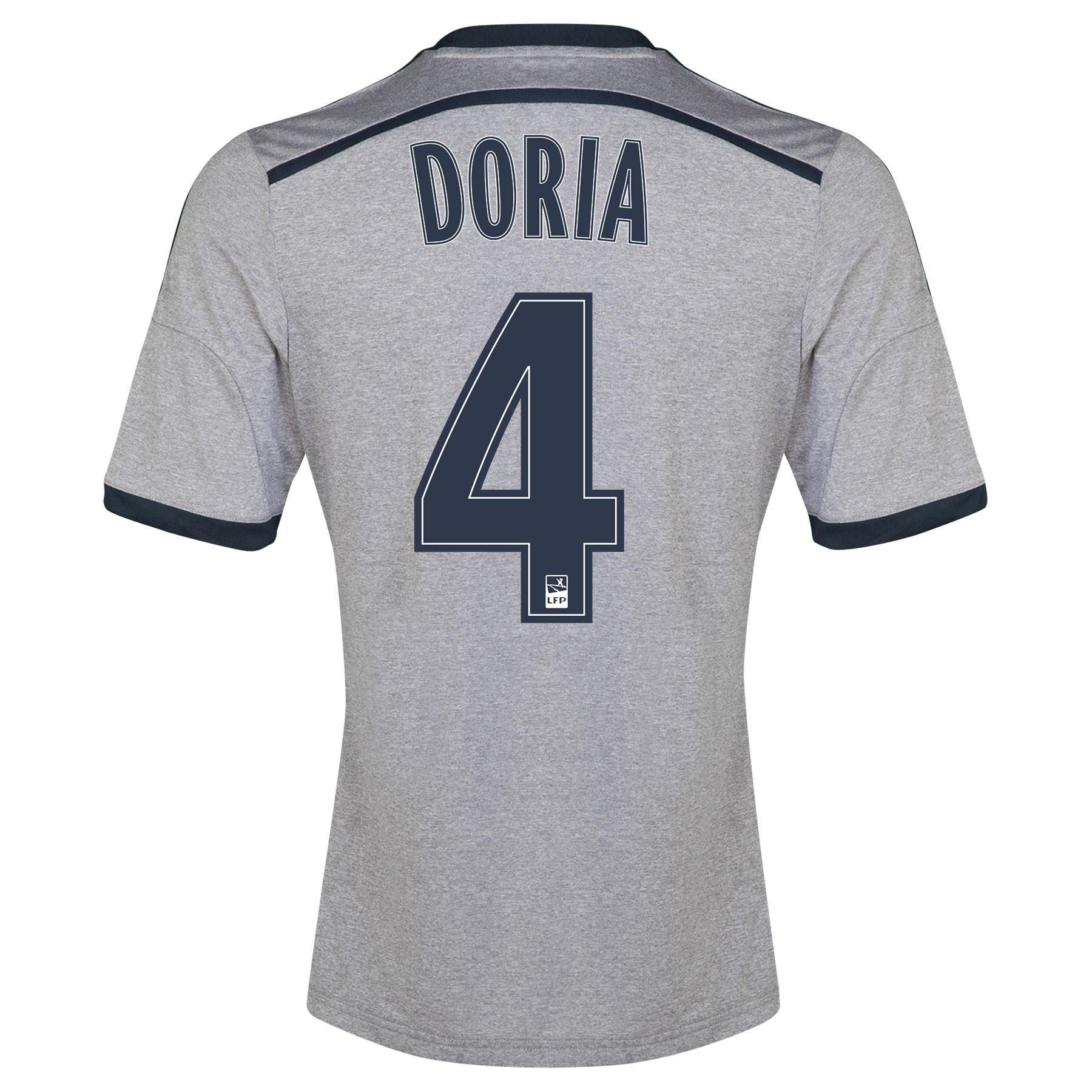 Olympique de Marseille Away Shirt Short Sleeve - Junior 2014/15 Silver with Doria 4 printing