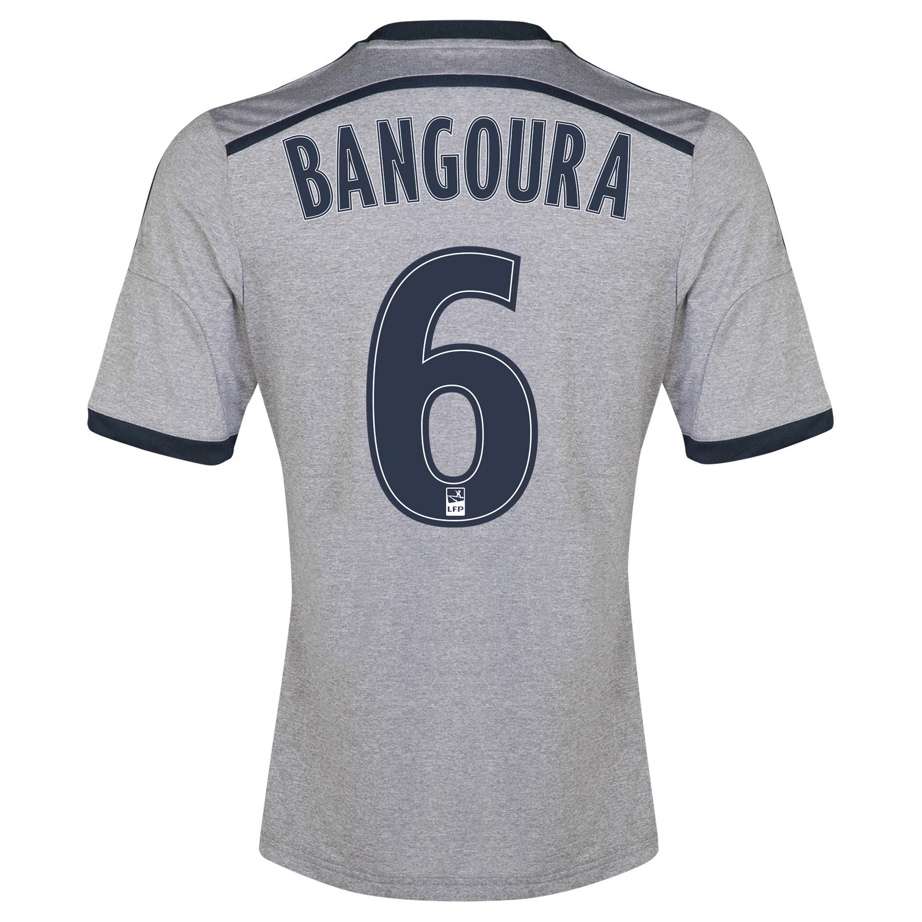 Olympique de Marseille Away Shirt Short Sleeve - Junior 2014/15 Silver with Bangoura 6 printing