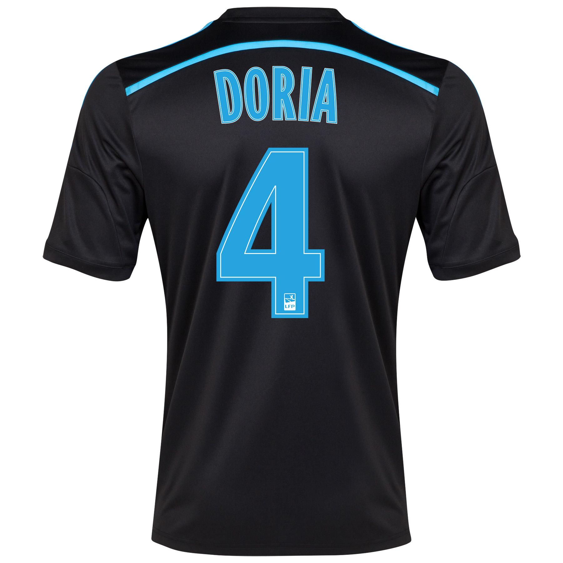 Olympique de Marseille 3rd Shirt Short Sleeve 2014/15 Black with Doria 4 printing