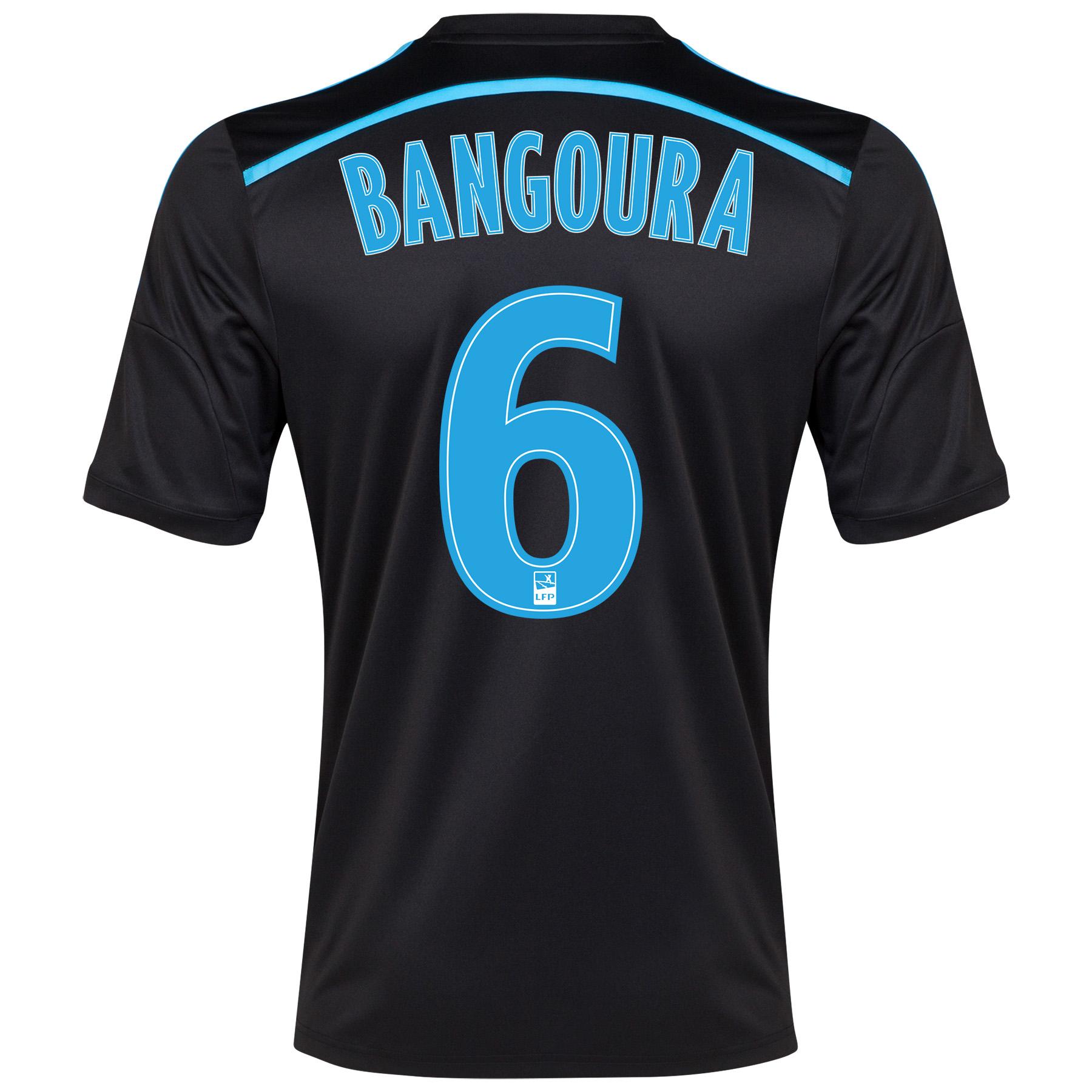 Olympique de Marseille 3rd Shirt Short Sleeve 2014/15 Black with Bangoura 6 printing