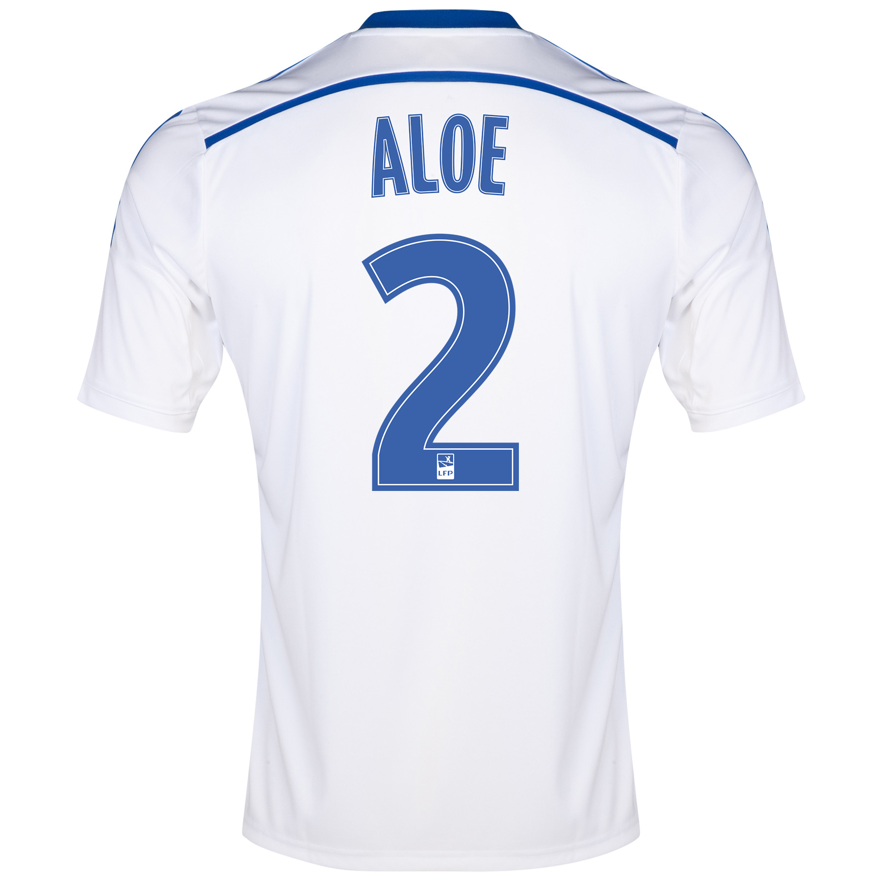 Olympique de Marseille Home Shirt Short Sleeve - Junior 2014/15 White with Aloe 2 printing