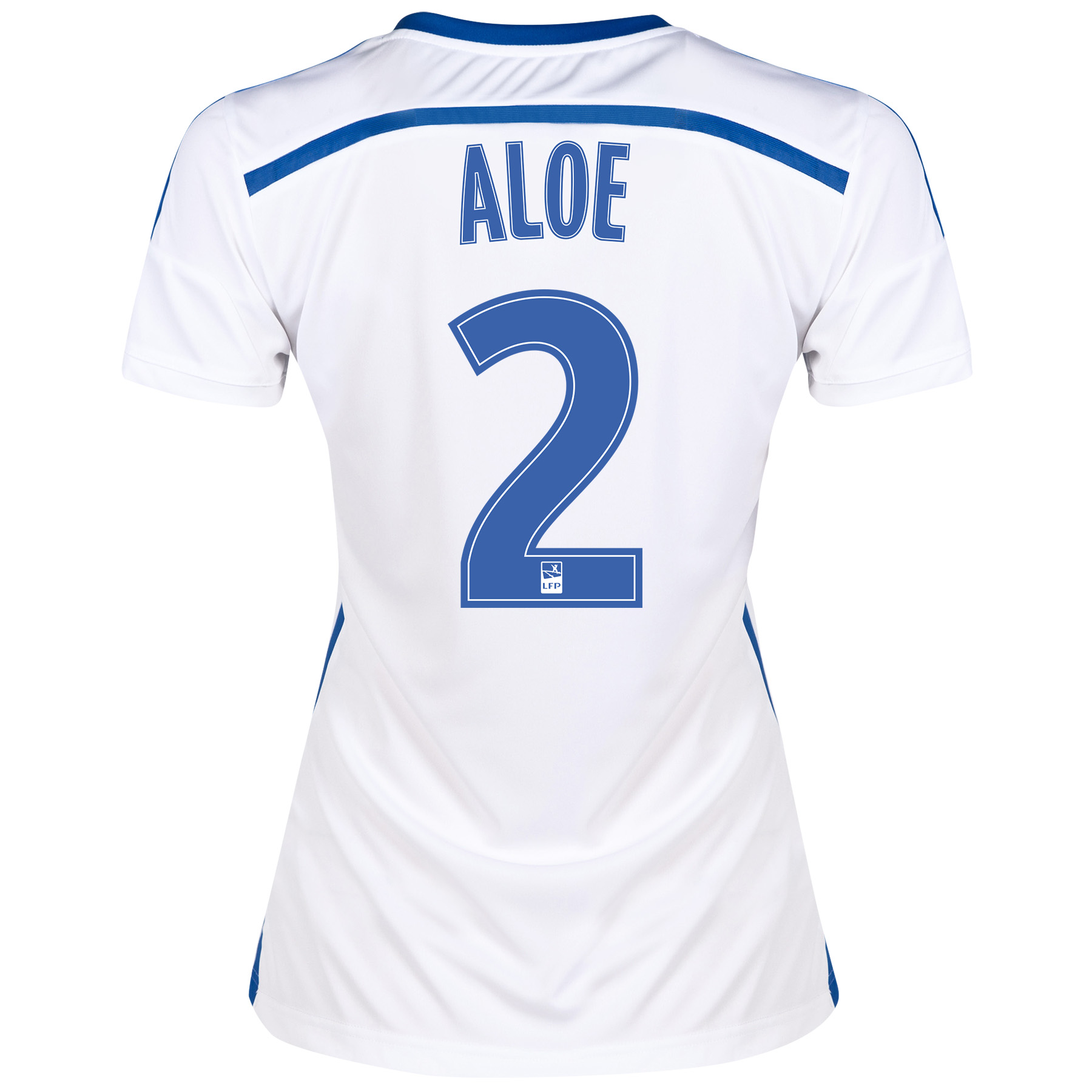 Olympique de Marseille Home Shirt Short Sleeve - Womens 2014/15 White with Aloe 2 printing