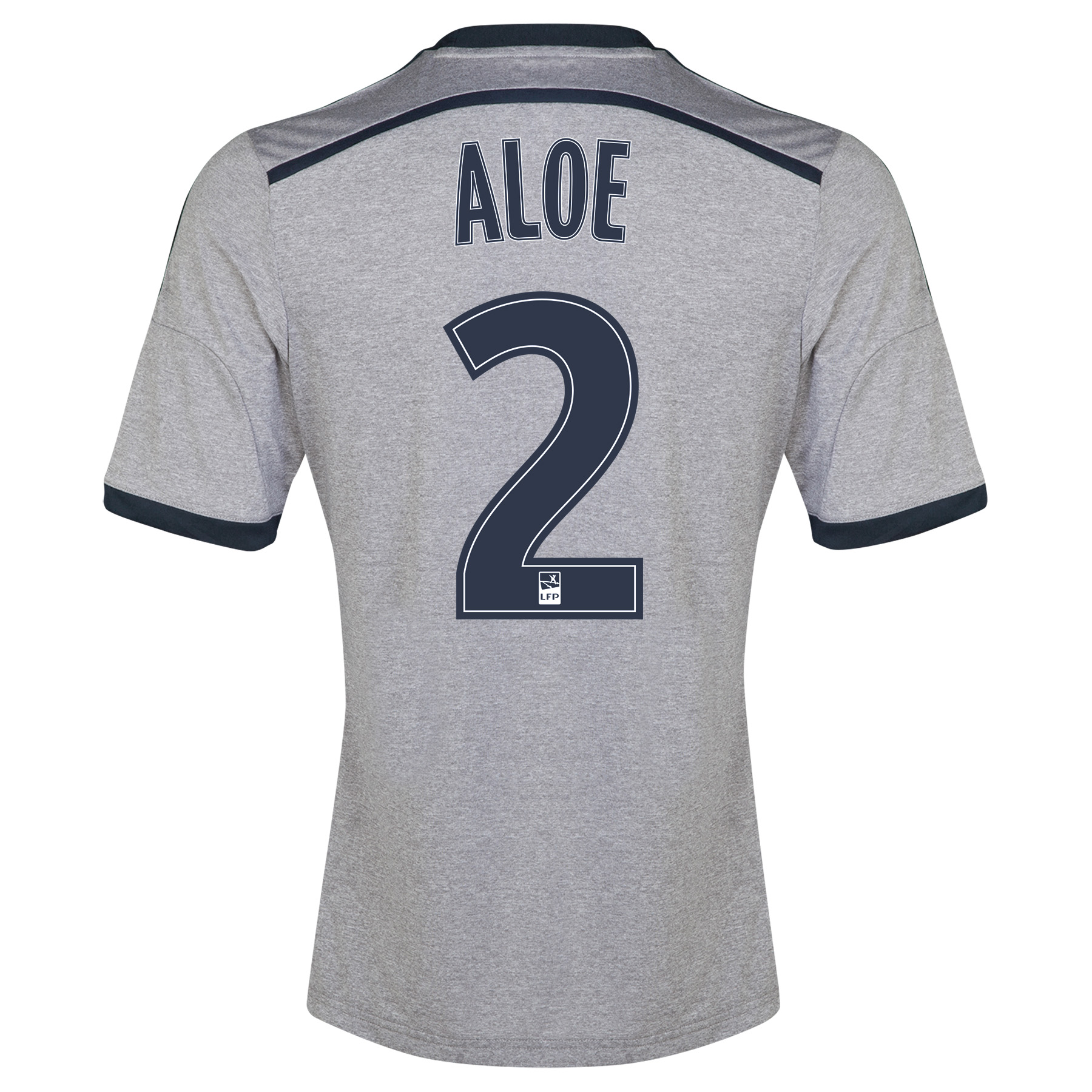 Olympique de Marseille Away Shirt Short Sleeve - Junior 2014/15 Silver with Aloe 2 printing