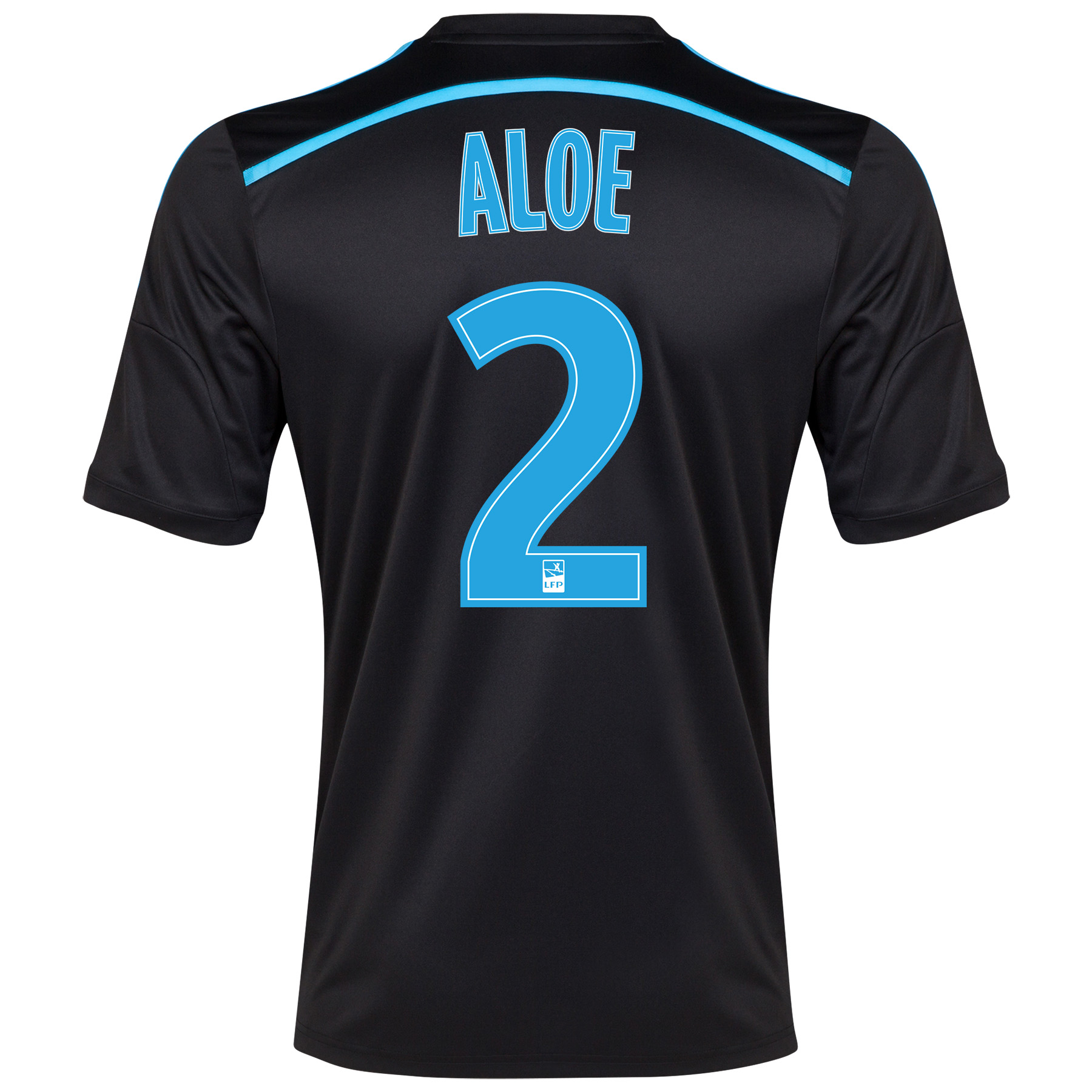 Olympique de Marseille 3rd Shirt Short Sleeve 2014/15 Black with Aloe 2 printing