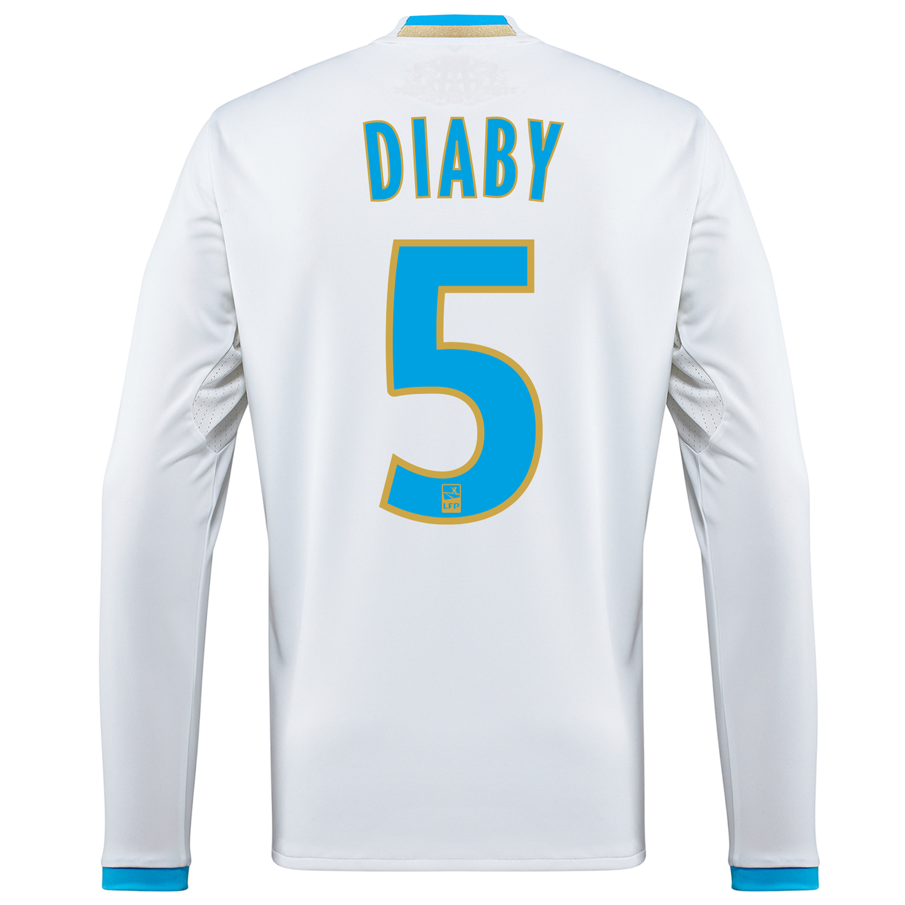 Olympique de Marseille Home Shirt 2016/17 - Long Sleeved with Diaby 5