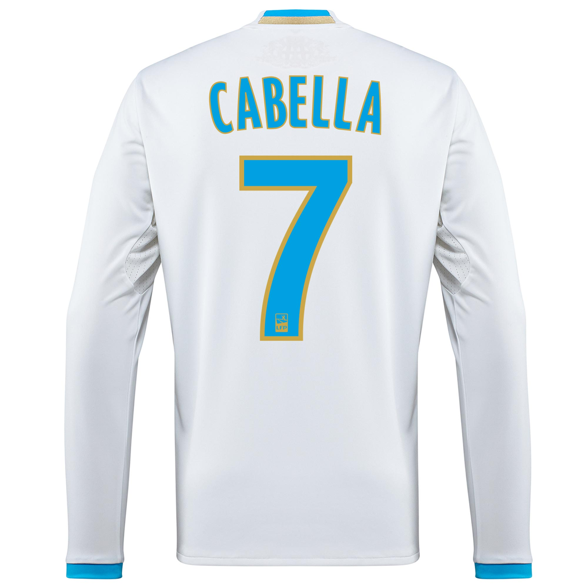 Olympique de Marseille Home Shirt 2016/17 - Long Sleeved with Cabella