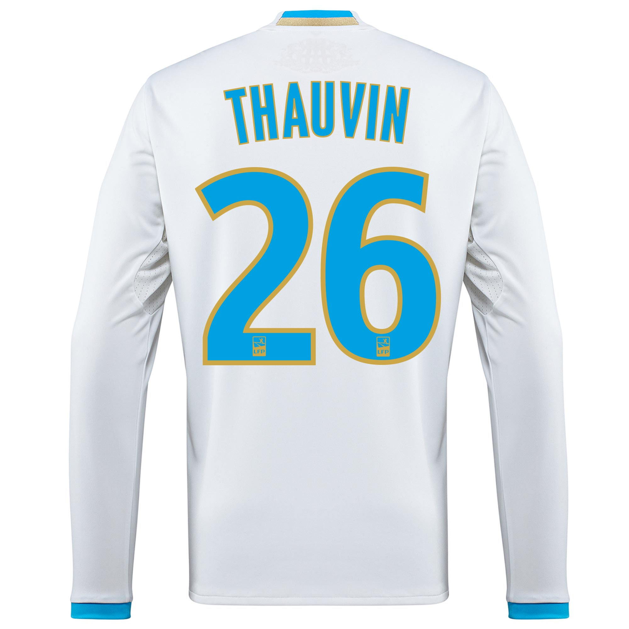 Olympique de Marseille Home Shirt 2016/17 - Long Sleeved with Thauvin