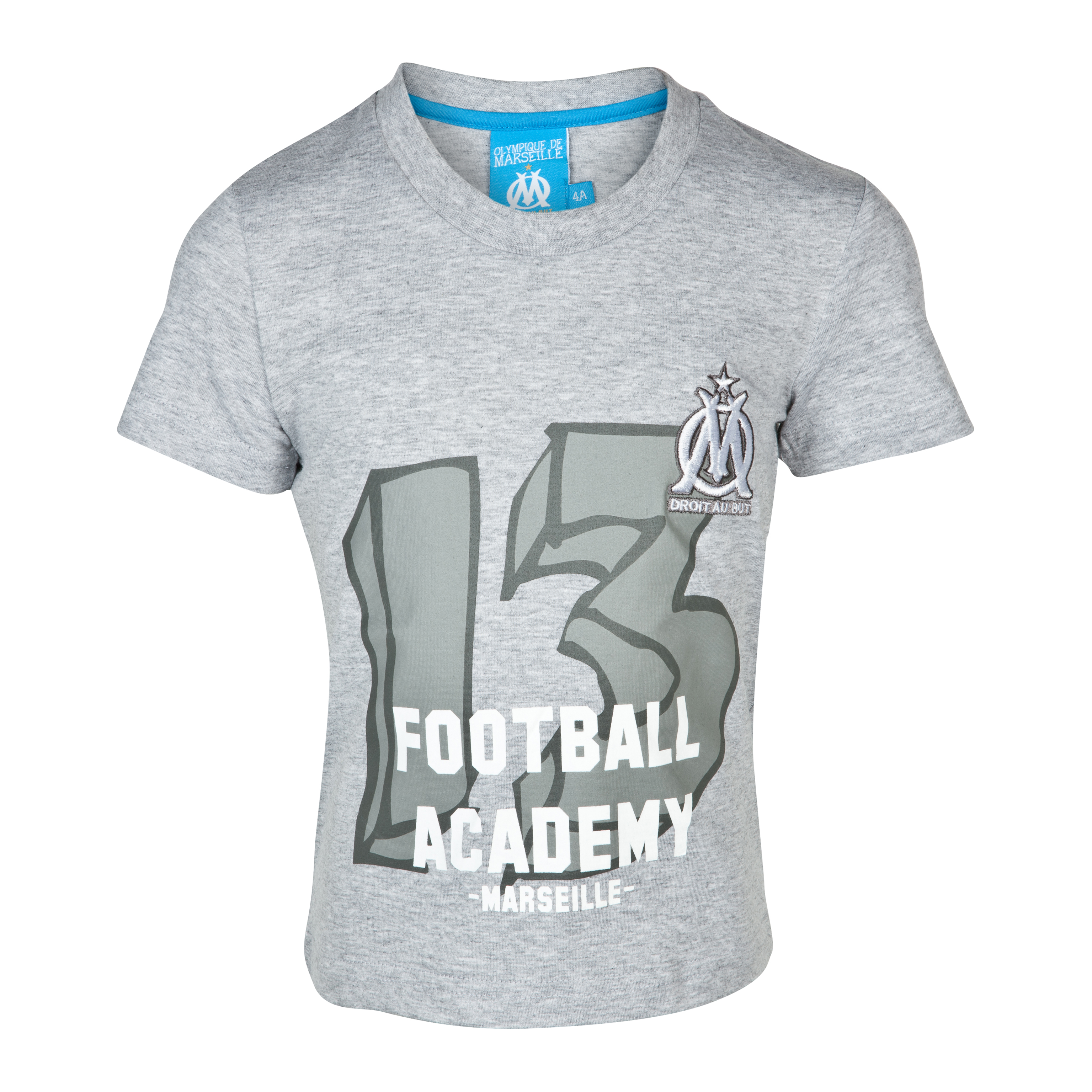 T-shirt Football Academy Olympique de Marseille - Gris - Enfant