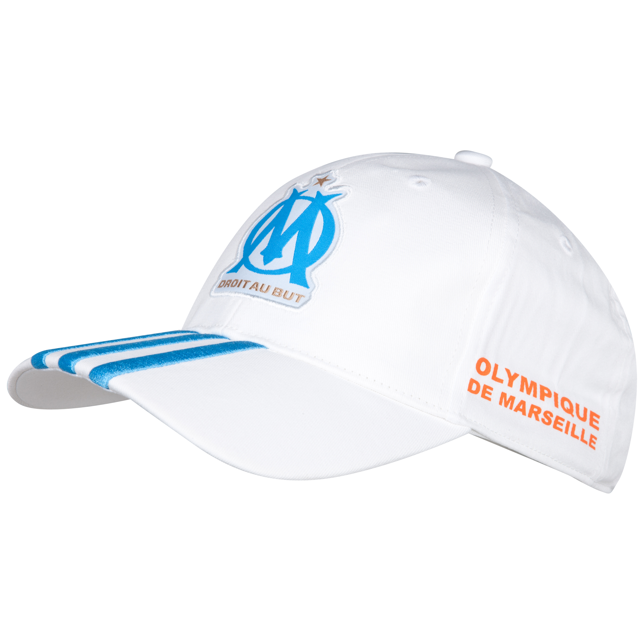 Olympique de Marseille 3 Stripe Cap - White
