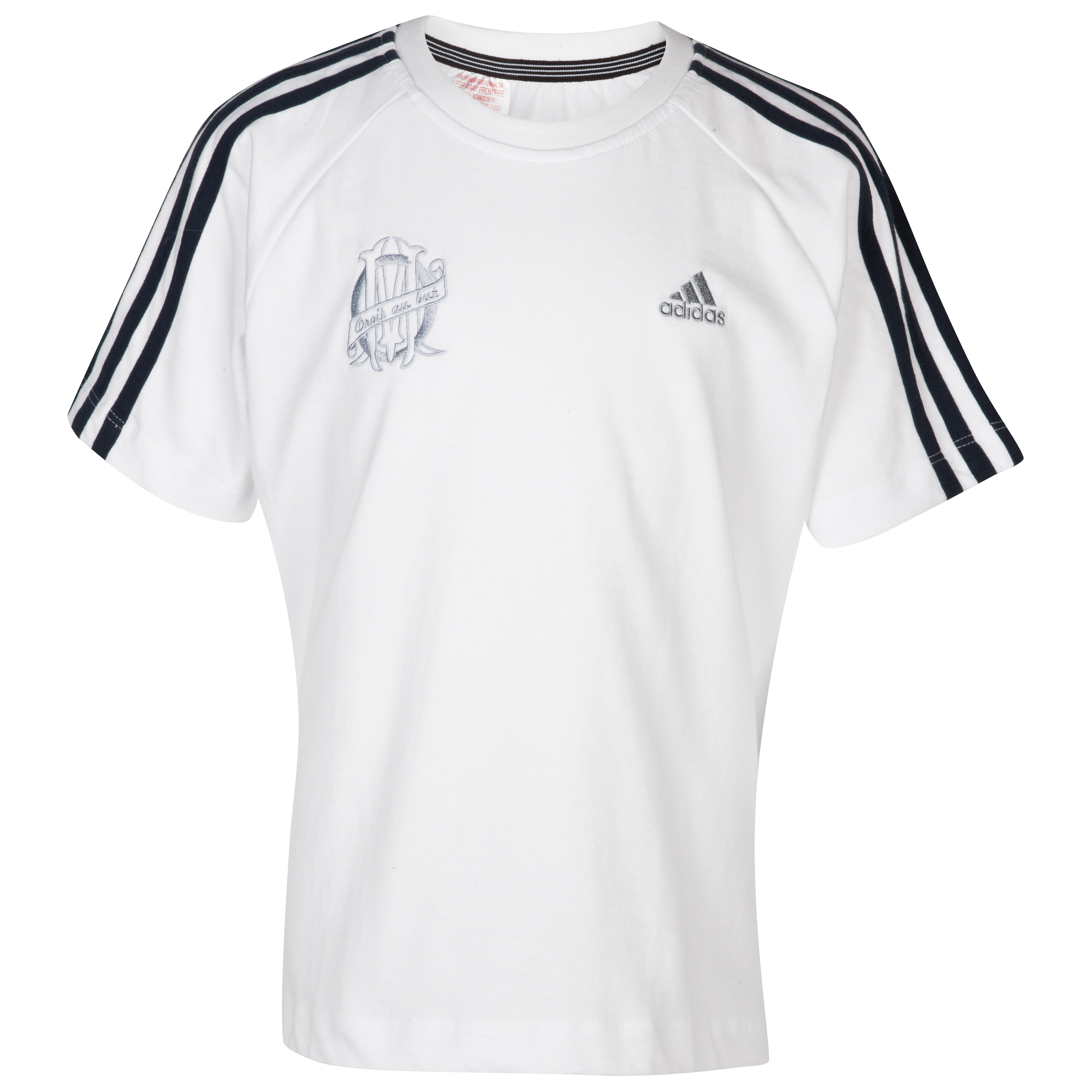 T-shirt Olympique de Marseille - Blanc - Junior