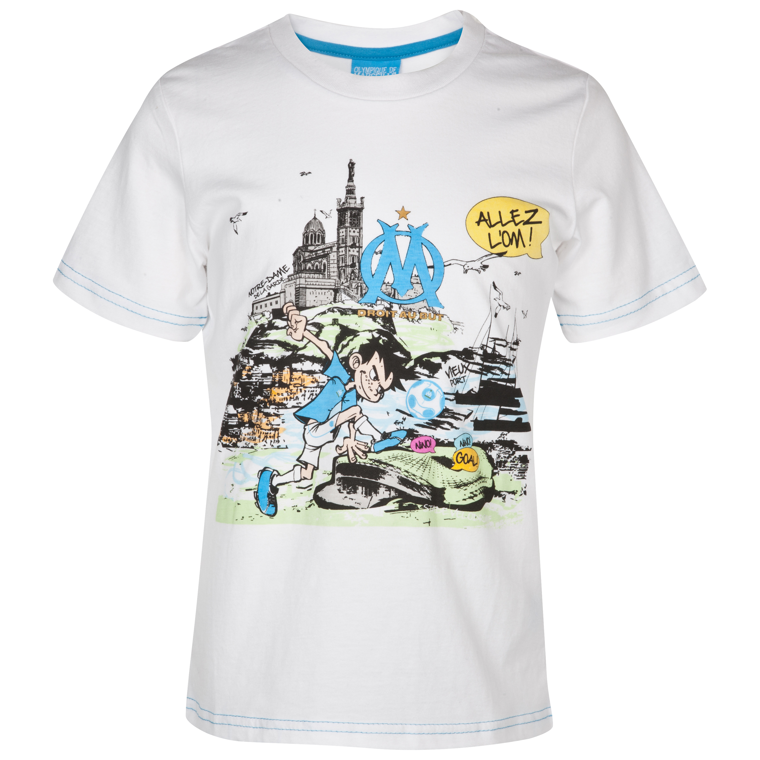 Olympique de Marseille Nino T-Shirt - White - Junior