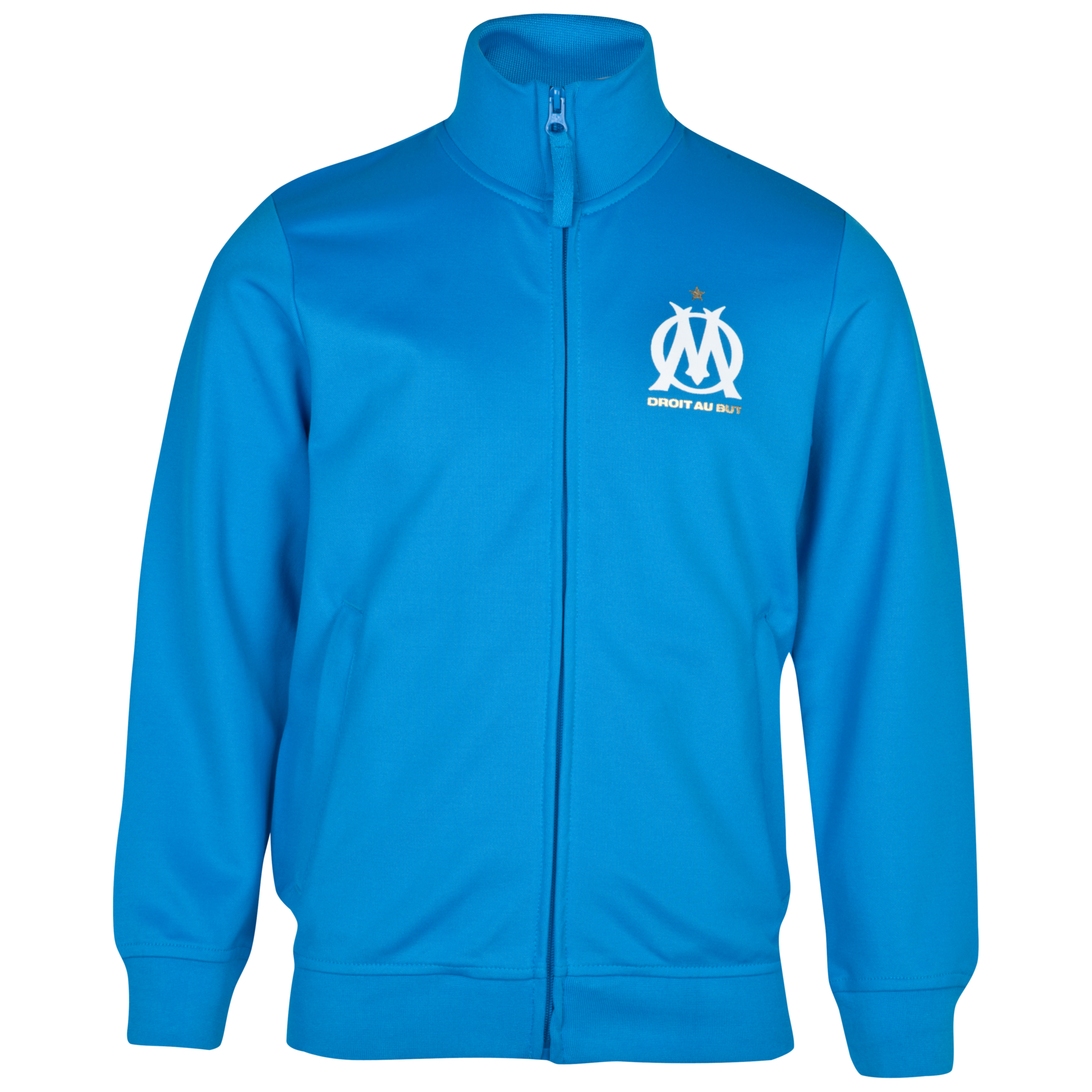 Olympique de Marseille Fan Zip Jacket - Blue - Junior