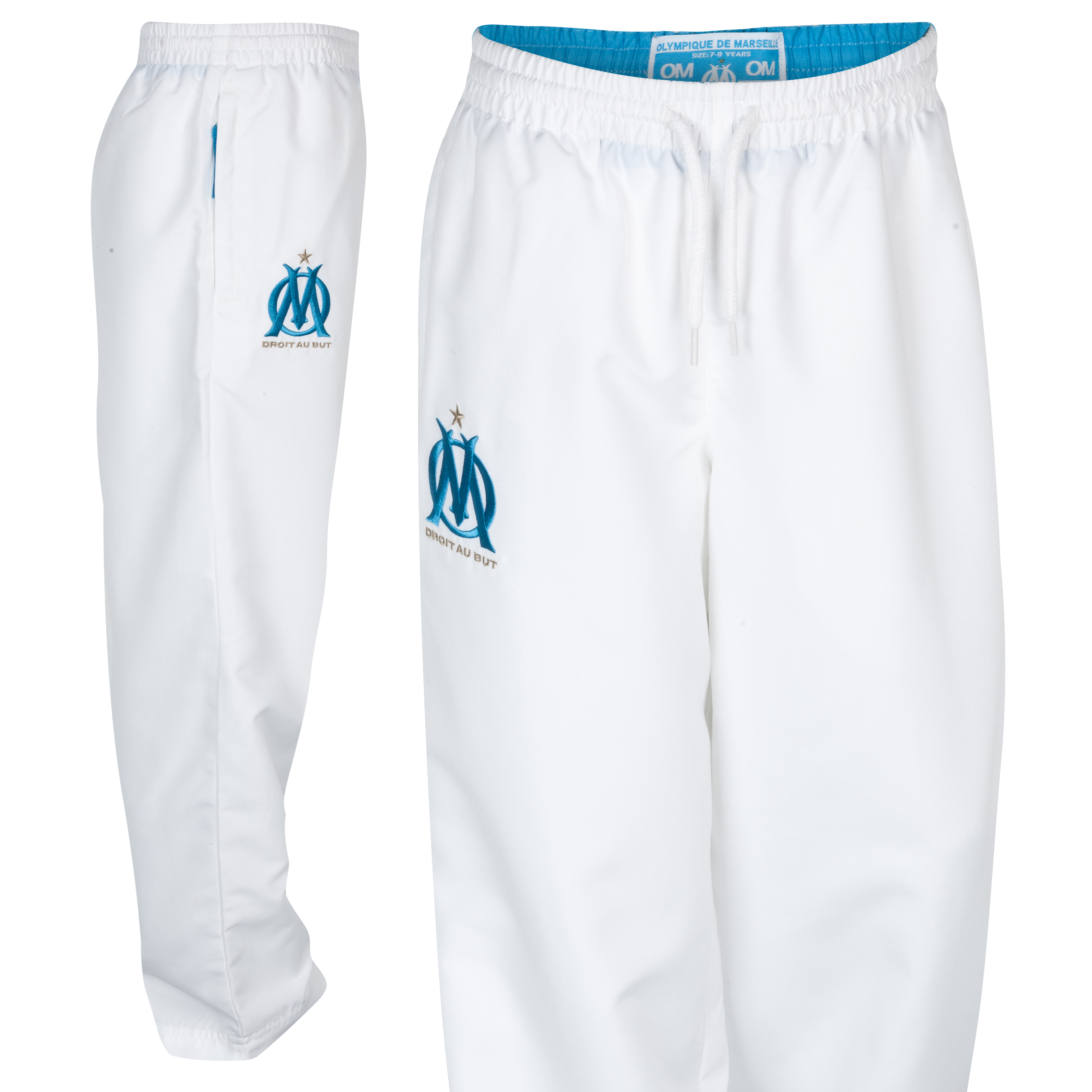 Olympique de Marseille Tacpol Pant - White - Junior