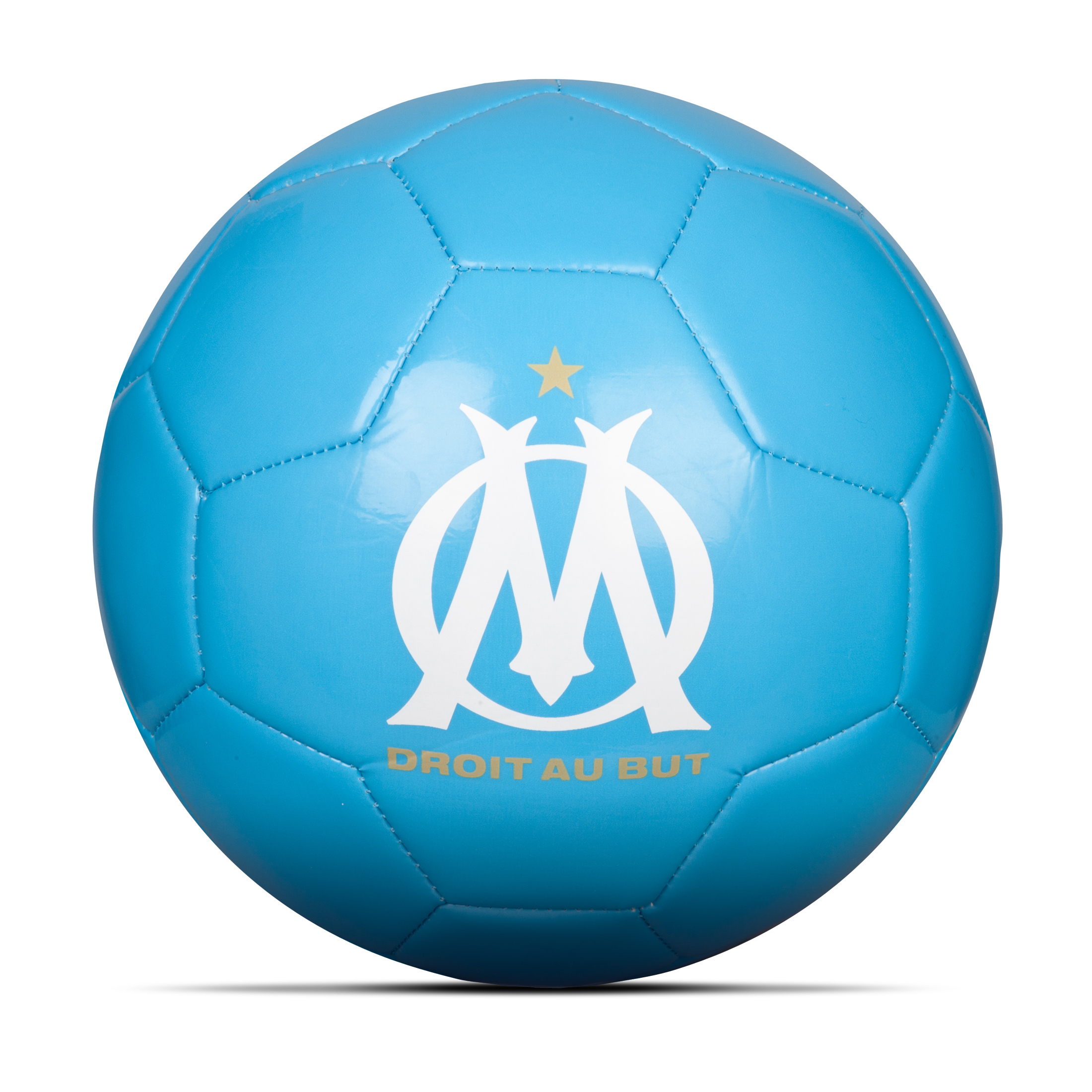 Olympique de Marseille Phantom V Football Size 5 - Blue/Black