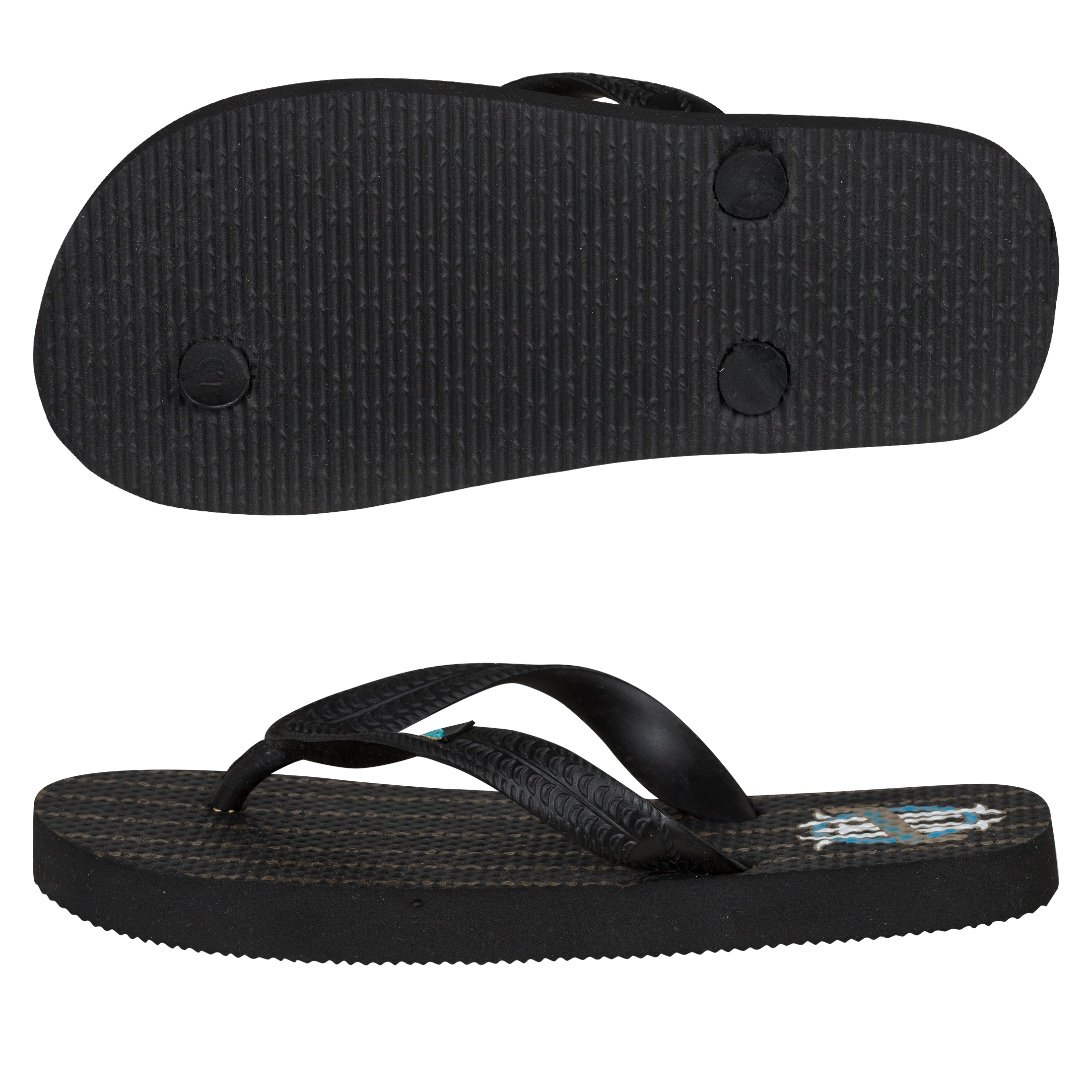 Olympique de Marseille Flip Flop - Black - Junior