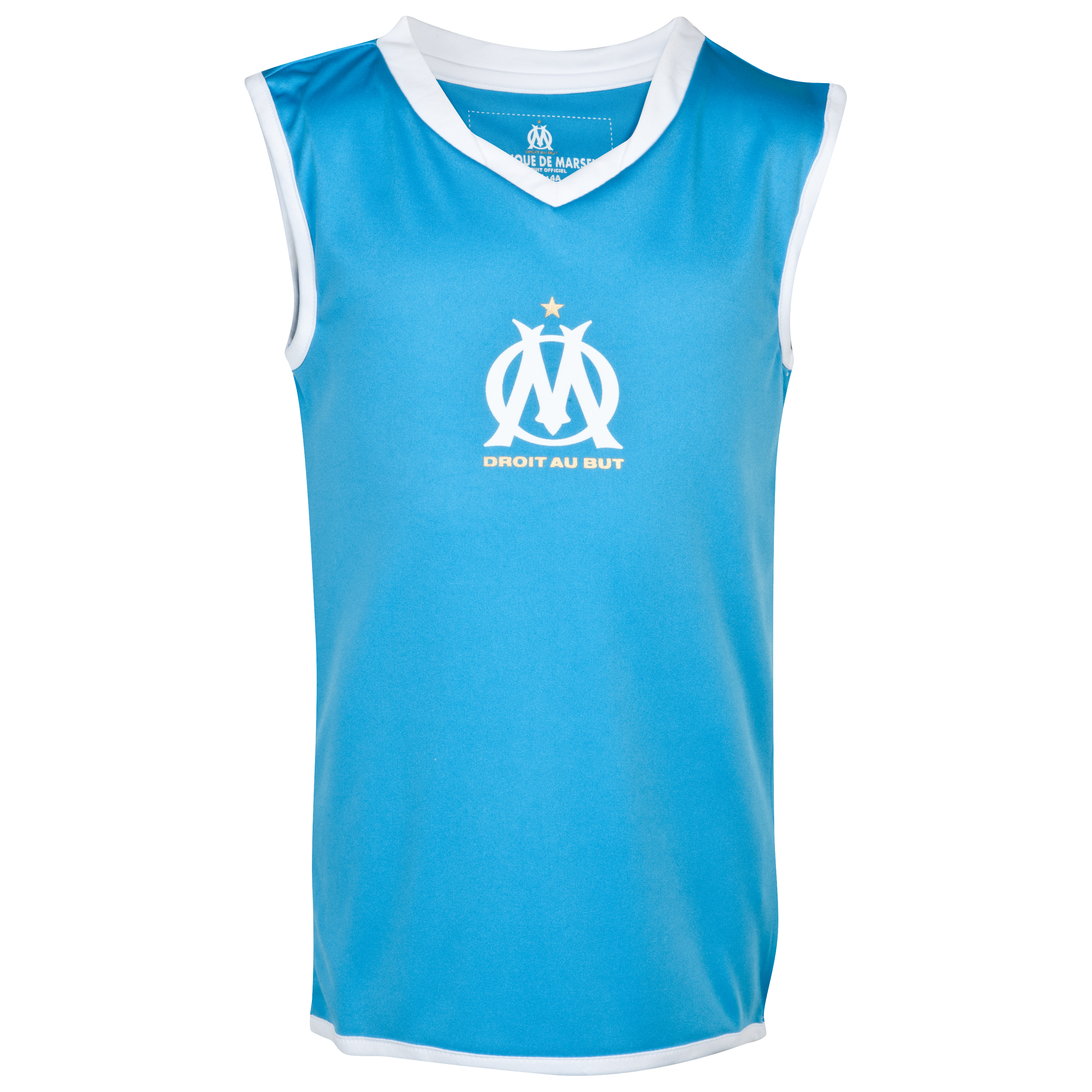 Olympique de Marseille Polyester Tank Top - Blue - Junior