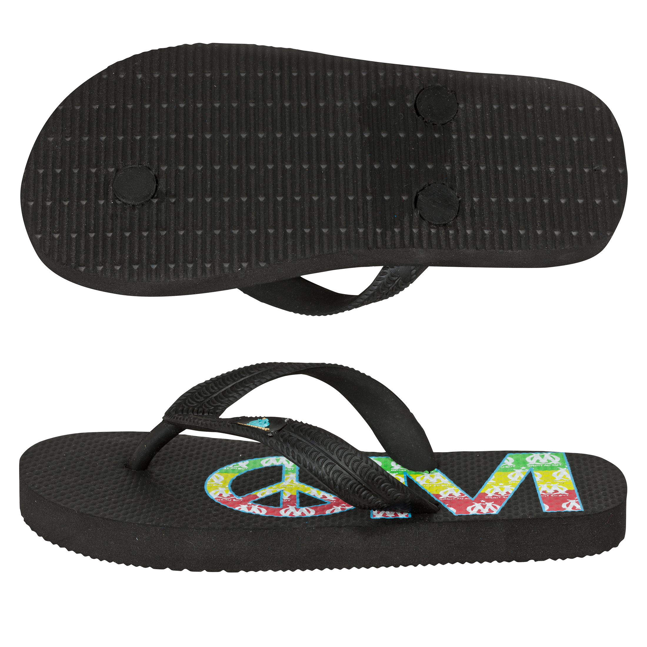 Olympique de Marseille Summer Flip Flop - Black - Junior