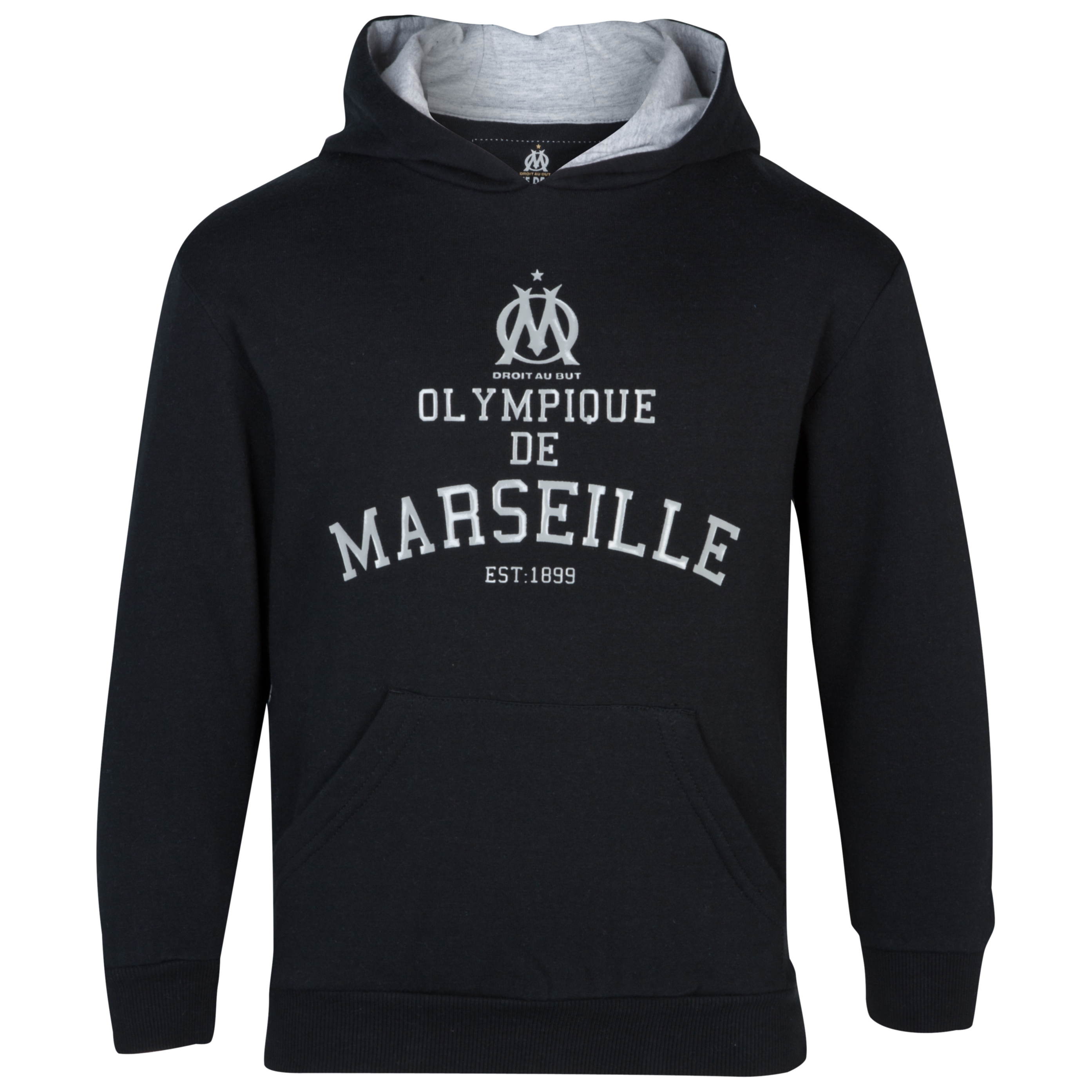 Olympique de Marseille Athletic Club Hoodie - Black/Grey - Junior