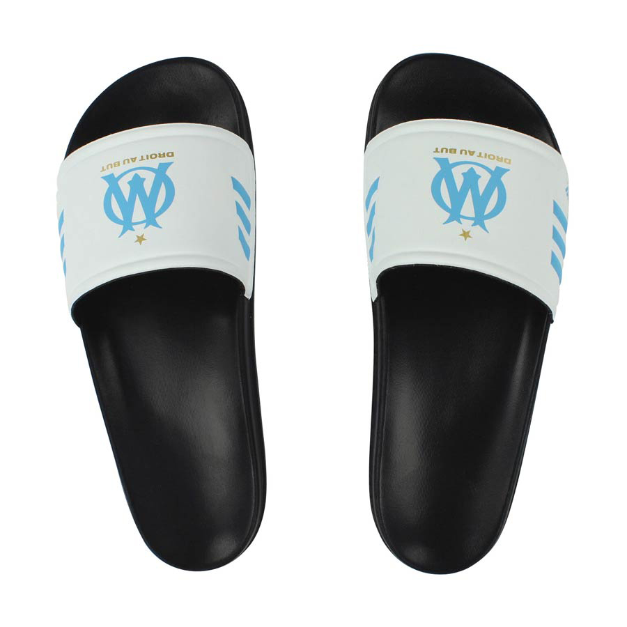 Olympique de Marseille Adilettes Slides - White/Black
