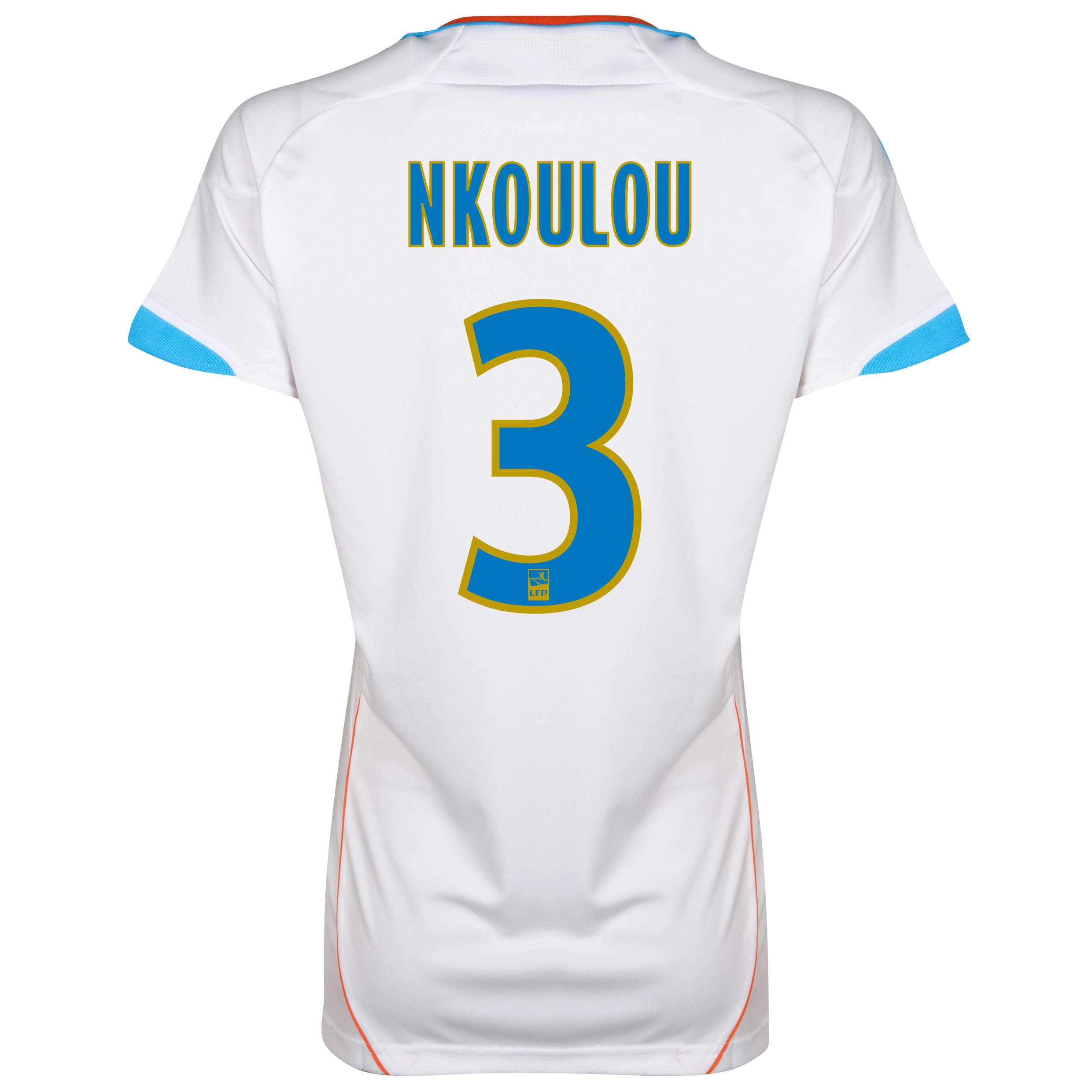 Olympique de Marseille Home Replica 2012/13 - Womens with Nkoulou 3 printing