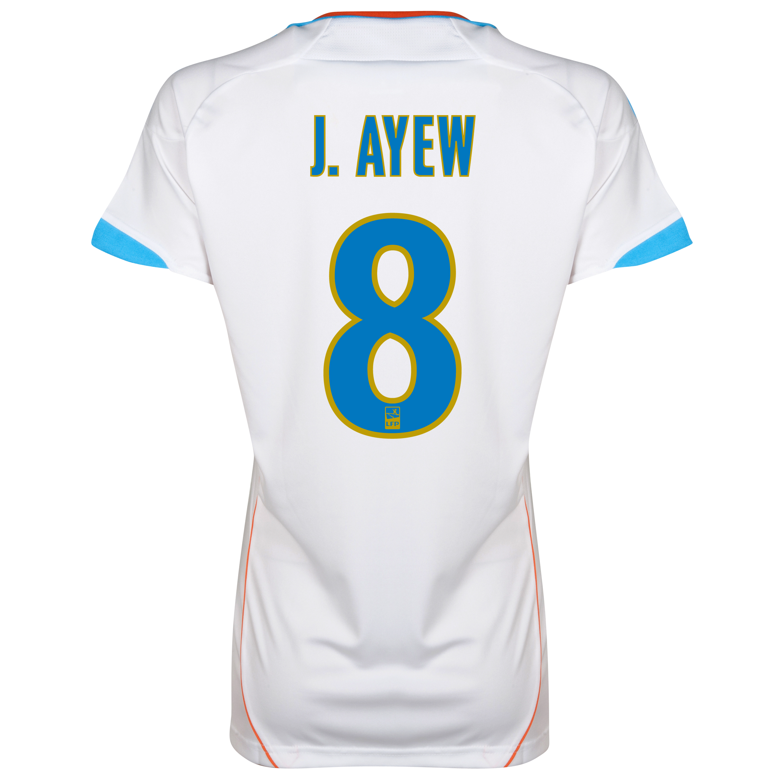 Olympique de Marseille Home Replica 2012/13 - Womens with J.Ayew 8 printing