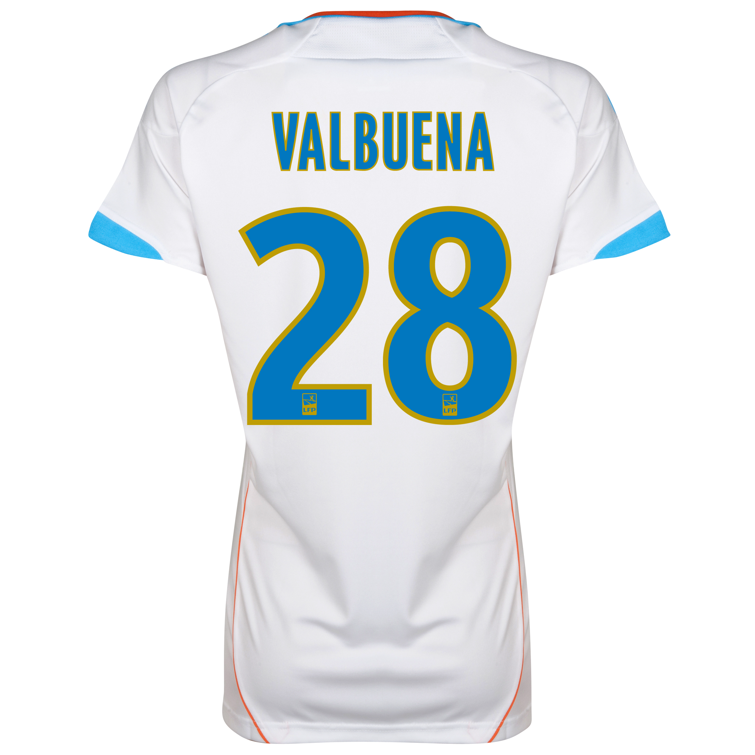 Olympique de Marseille Home Replica 2012/13 - Womens with Valbuena 28 printing