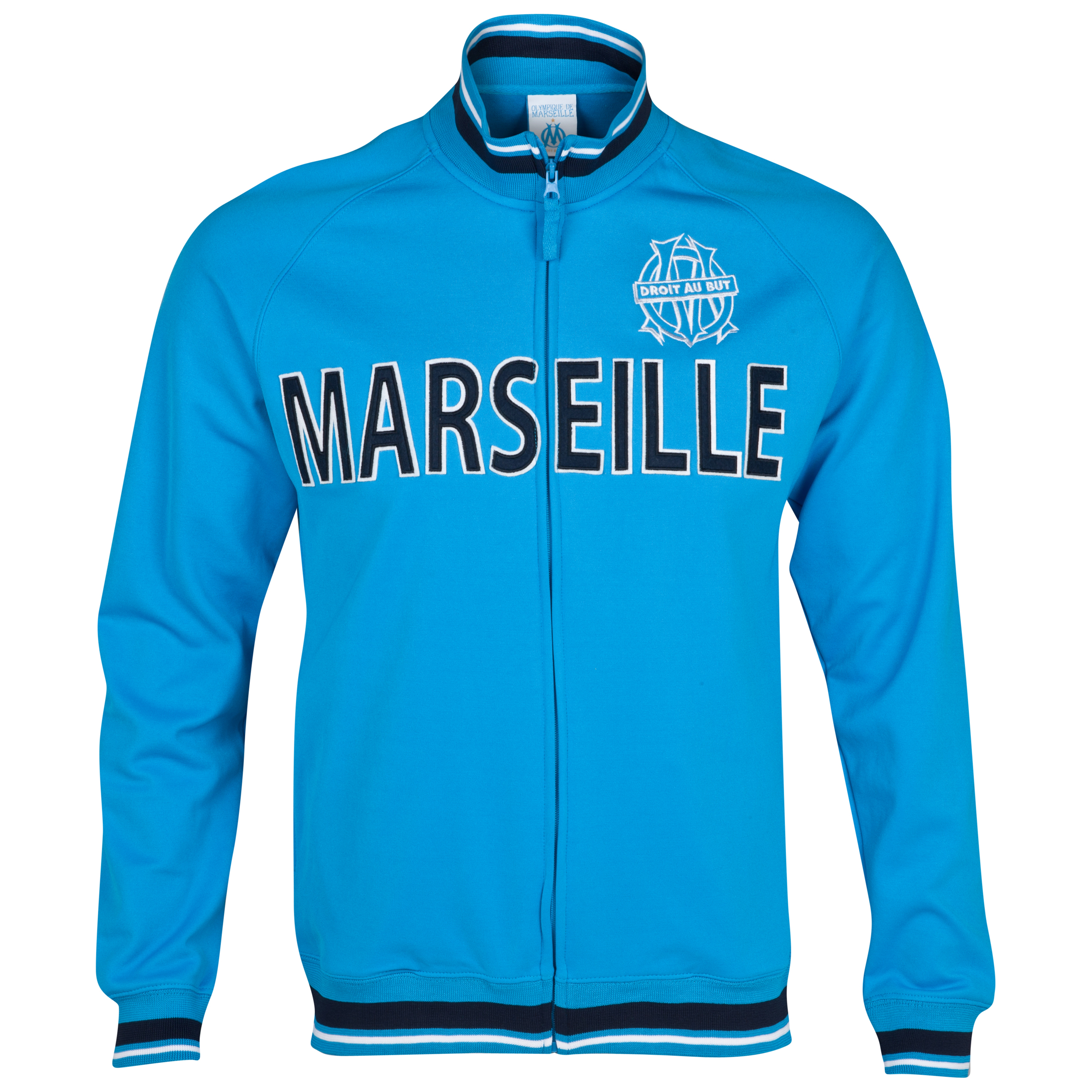 Olympique de Marseille Logo 93 Zip Jacket - Blue - Junior