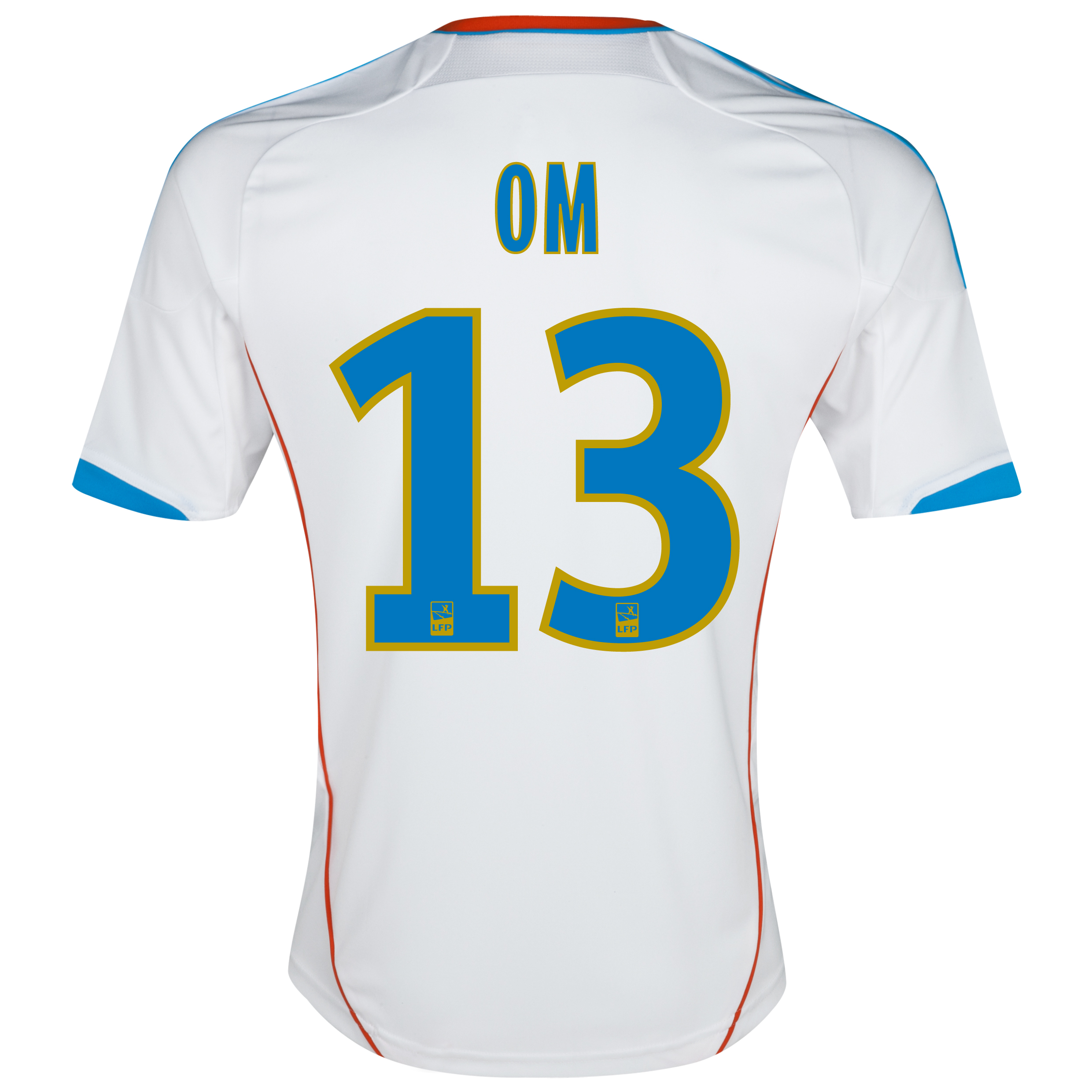 Olympique de Marseille Replica Home Shirt 2012/13 with OM 13 printing