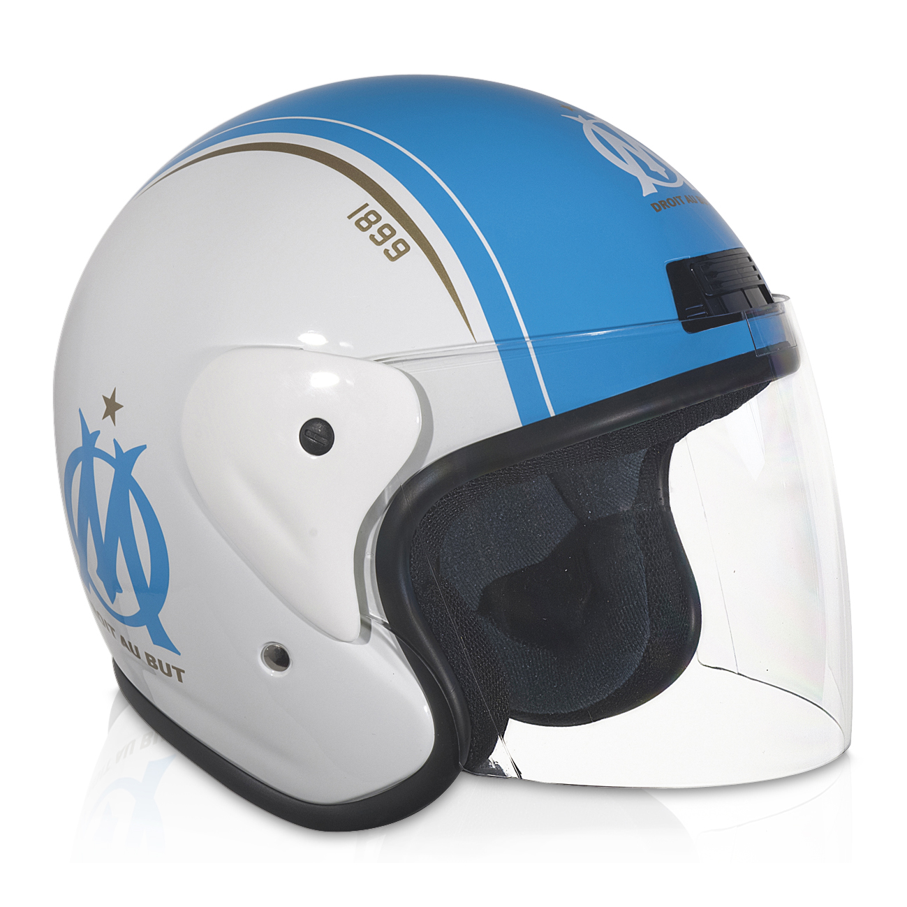 Olympique de Marseille Champion Jet Open Face Motorcycle Helmet