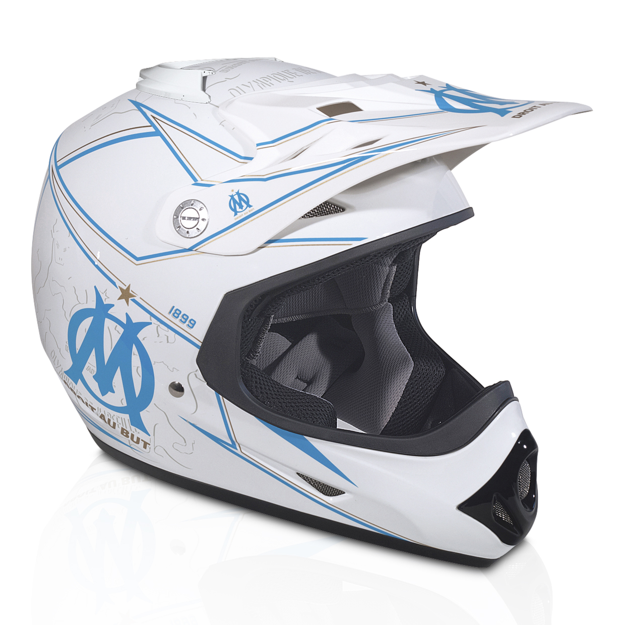 Olympique de Marseille Champion Cross Motorcycle Helmet