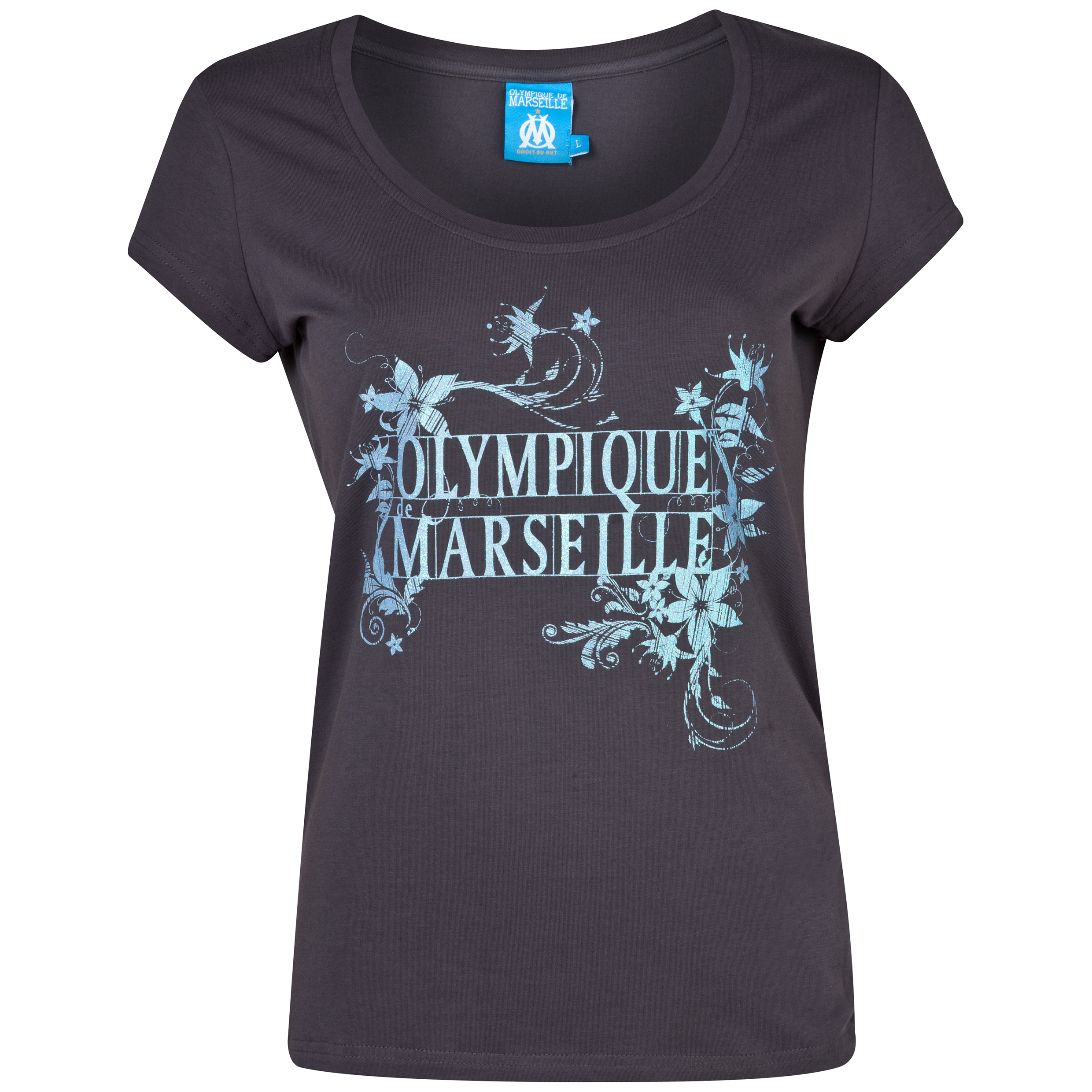 Olympique de Marseille OM Olympique T-Shirt - Womens Grey