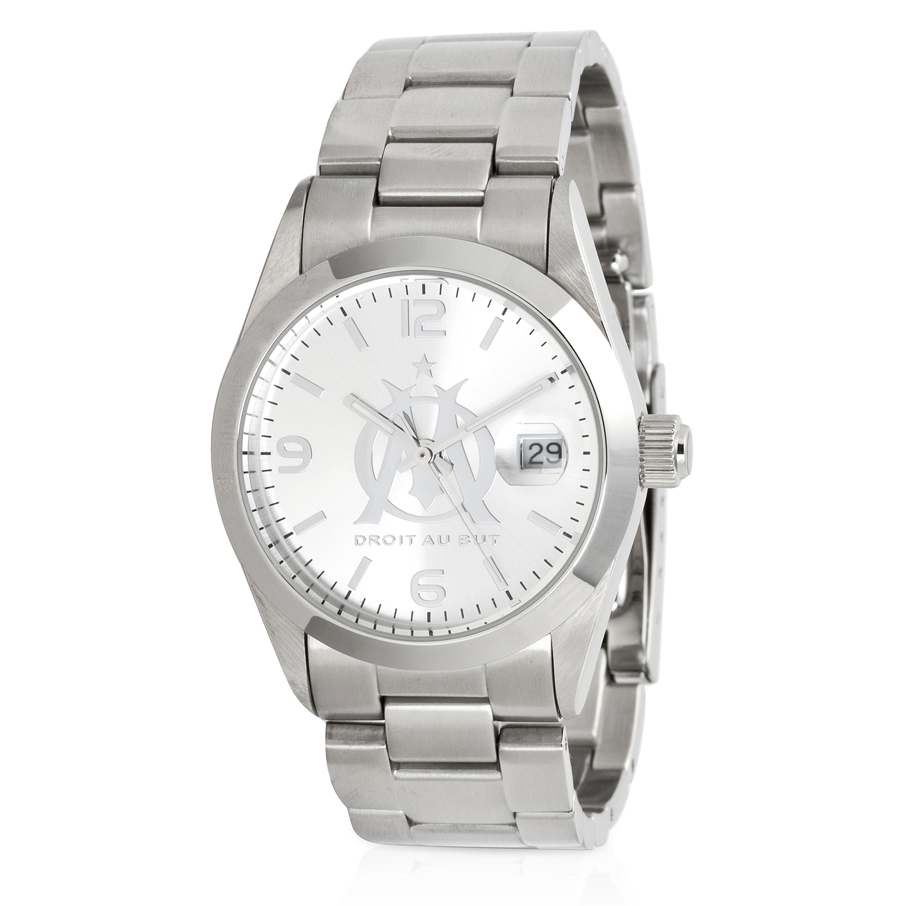 Olympique de Marseille Steel Logo Watch
