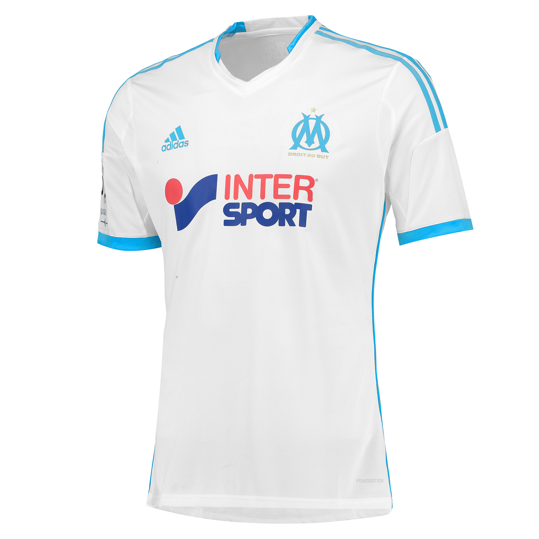 Olympique de Marseille Techfit Home Shirt 2013/14 - Mens White