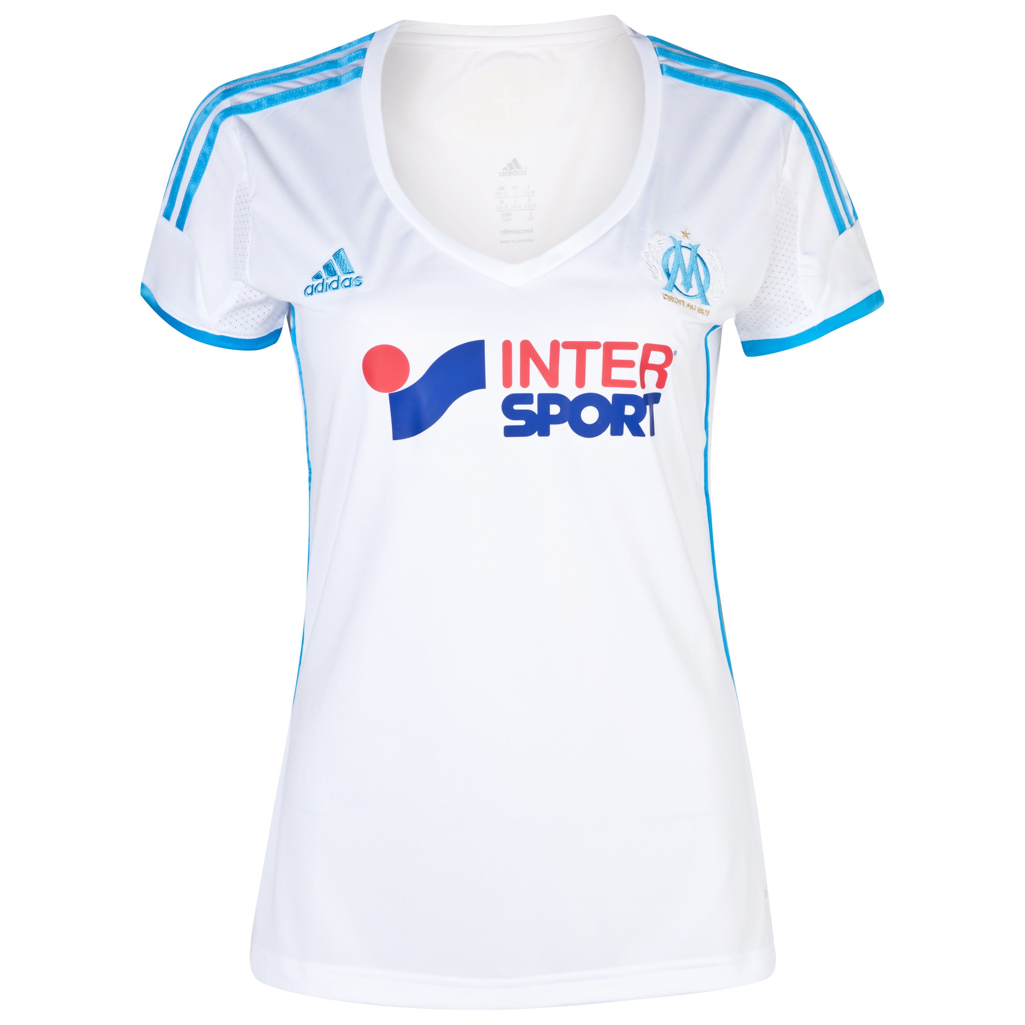 Olympique de Marseille Home Shirt SS 2013/14 Womens White