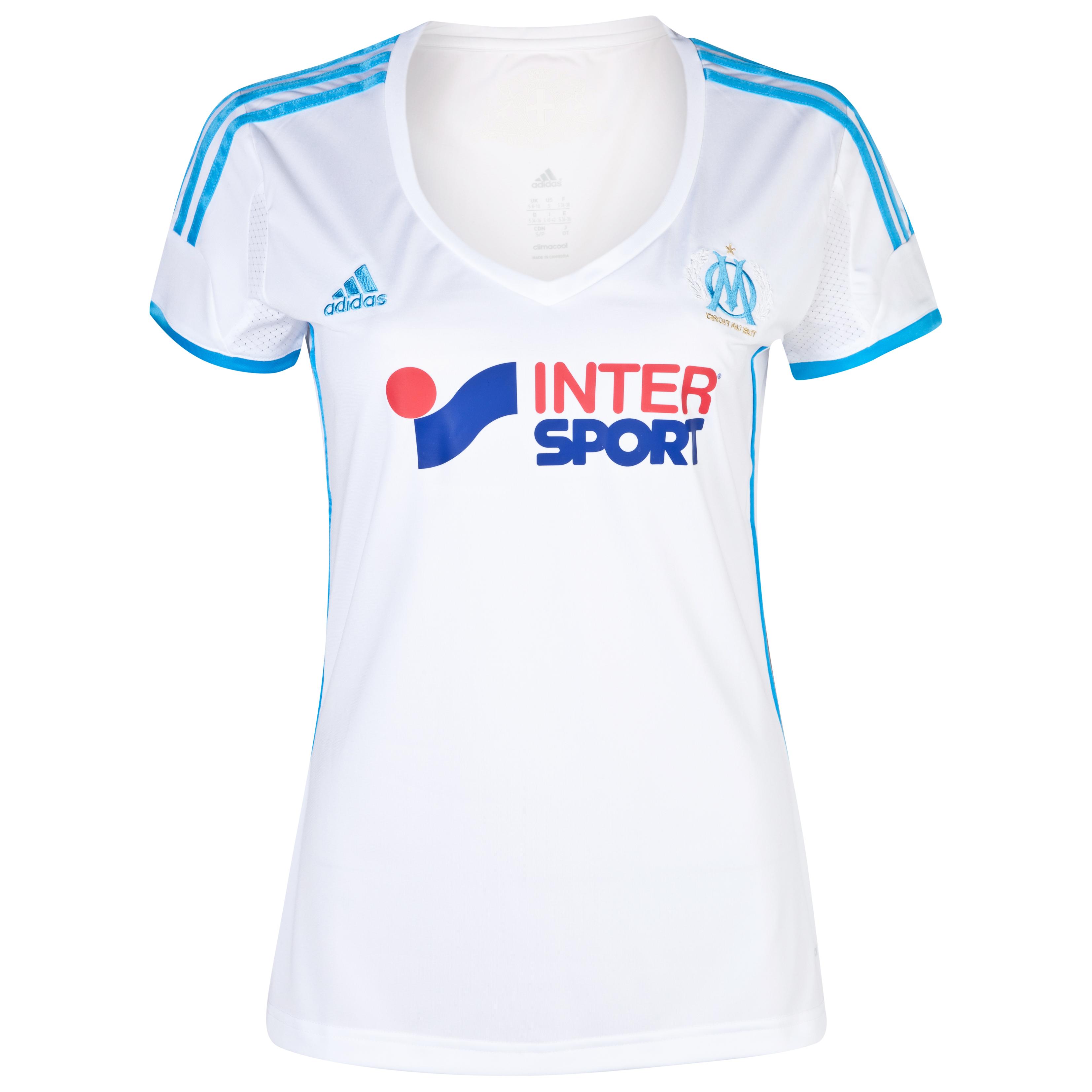 Olympique de Marseille Home Shirt SS 2013/14 - Womens White