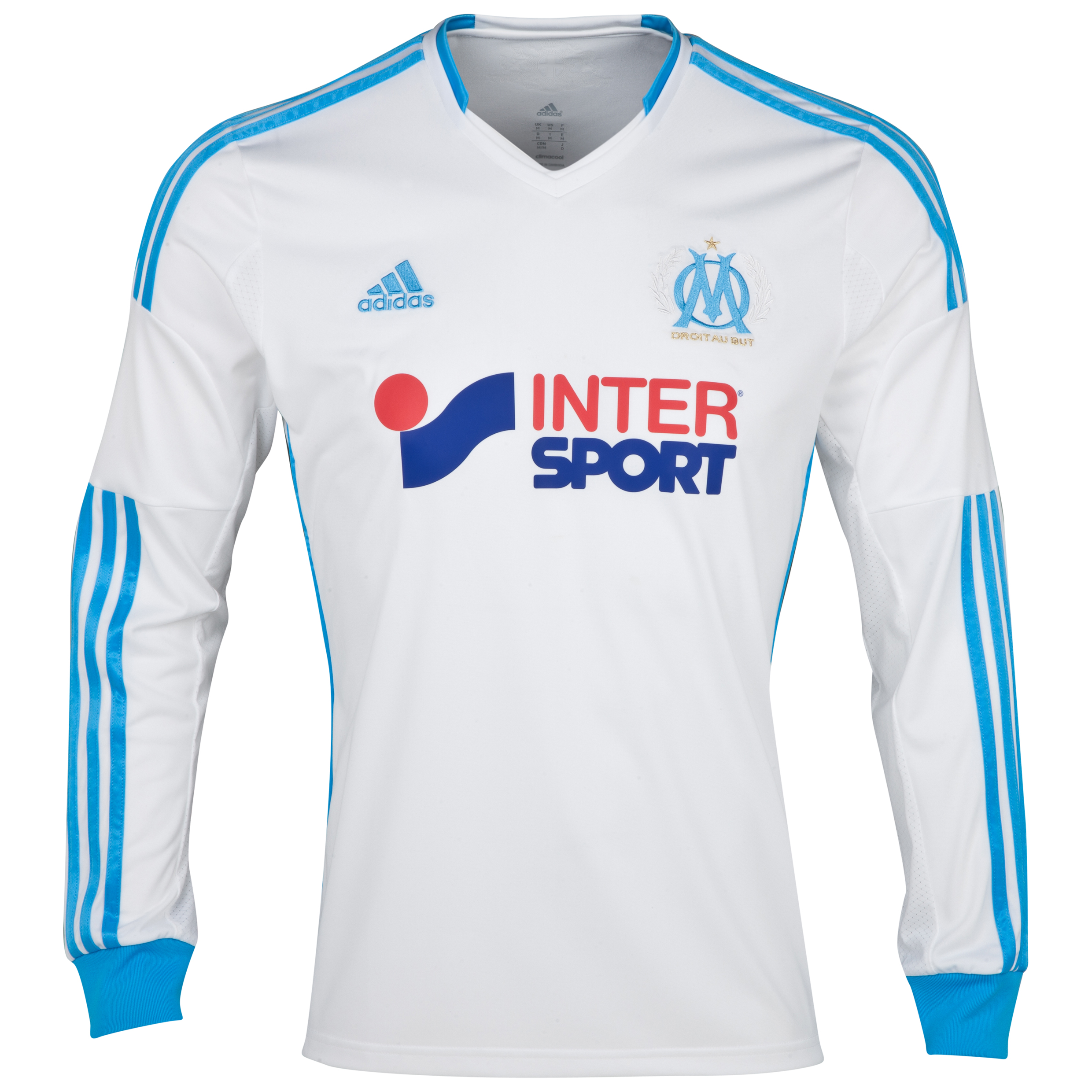 Olympique de Marseille Home Shirt LS 2013/14 - Mens White