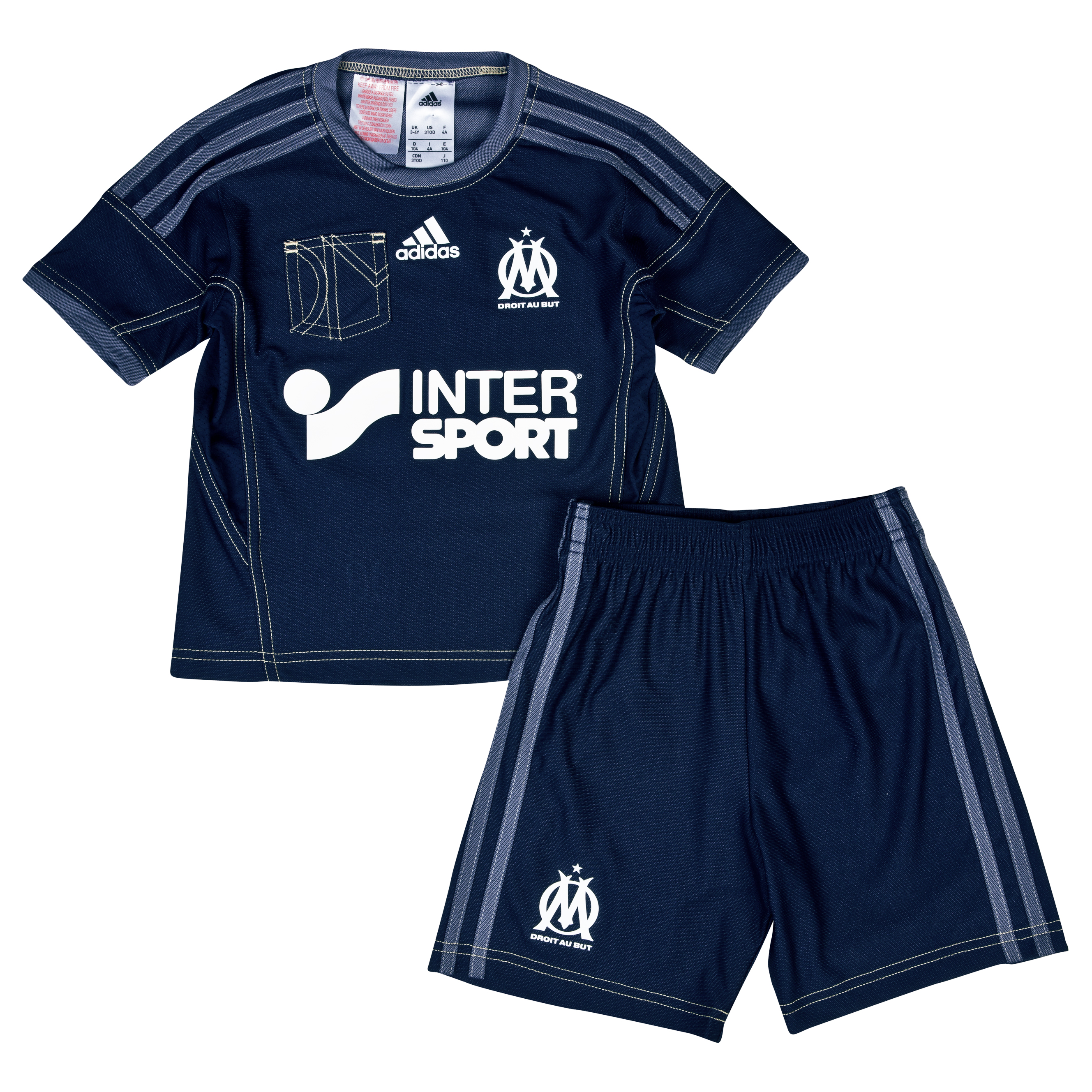 Olympique de Marseille Away Mini Kit 2013/14 Lt Blue